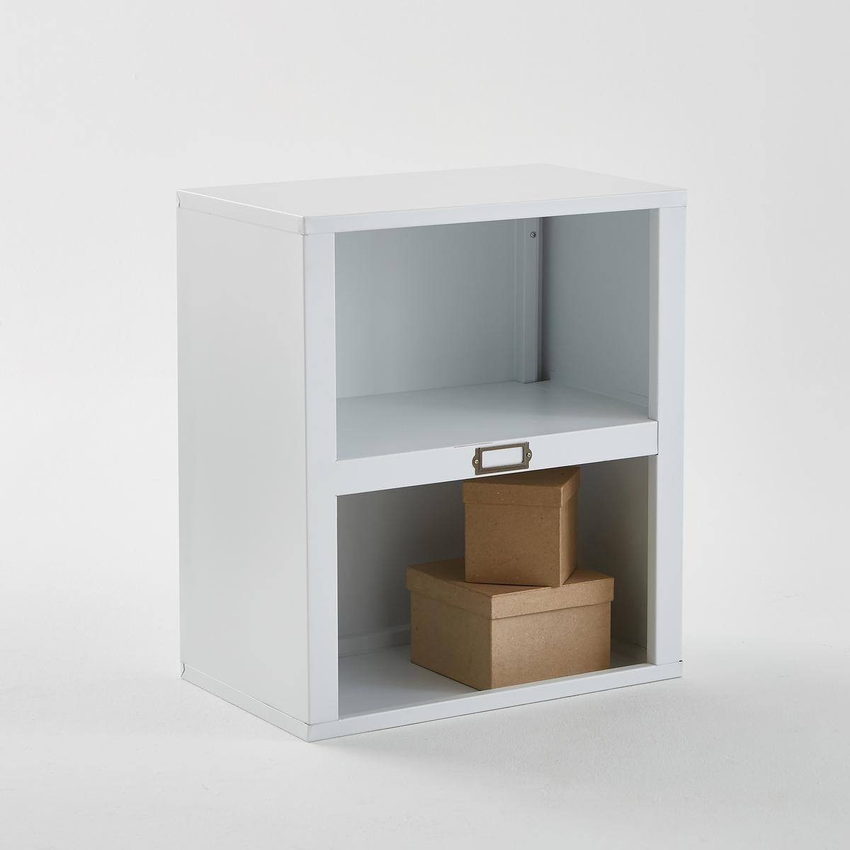 Столик с 2 отделениями из стали, белого матового цвета, Hiba hiba javed when perceptions change