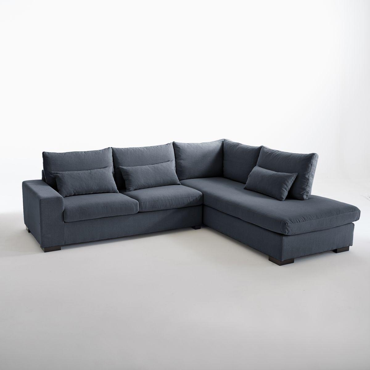 Canapé d'angle Odessa, Bultex, coton & lin,