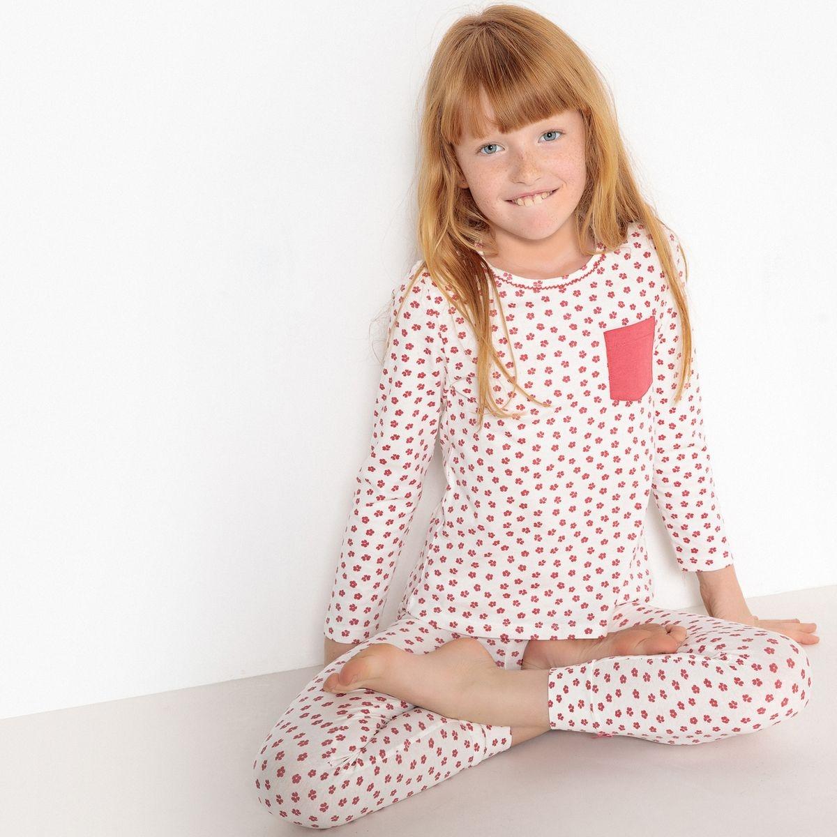Pyjama imprimé fleurs 3-12 ans