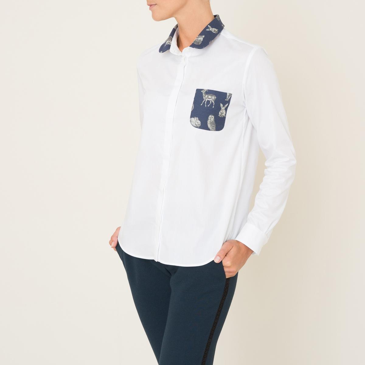 Рубашка BAMBINO EXCLUSIVITE BRAND BOUTIQUEСостав и описание Материал : 100% хлопка.Воротник и карман : 66% хлопка, 34% полиэстера Марка : PAUL AND JOE SISTER<br><br>Цвет: белый<br>Размер: S