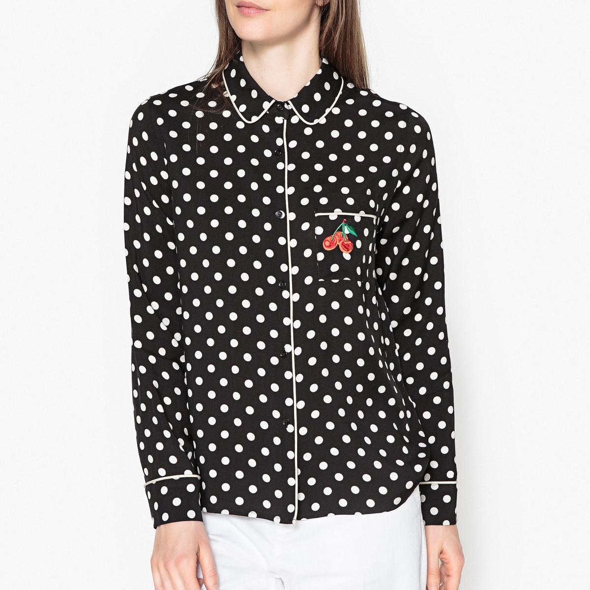 Рубашка с принтом в горошек PATASHA рубашка в мелкий горошек