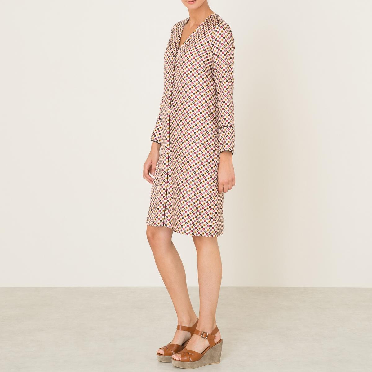 Платье AMIDA BISСостав и описание :Материал : 100% шелкМарка : MOMONI<br><br>Цвет: желтый,черный,экрю<br>Размер: M