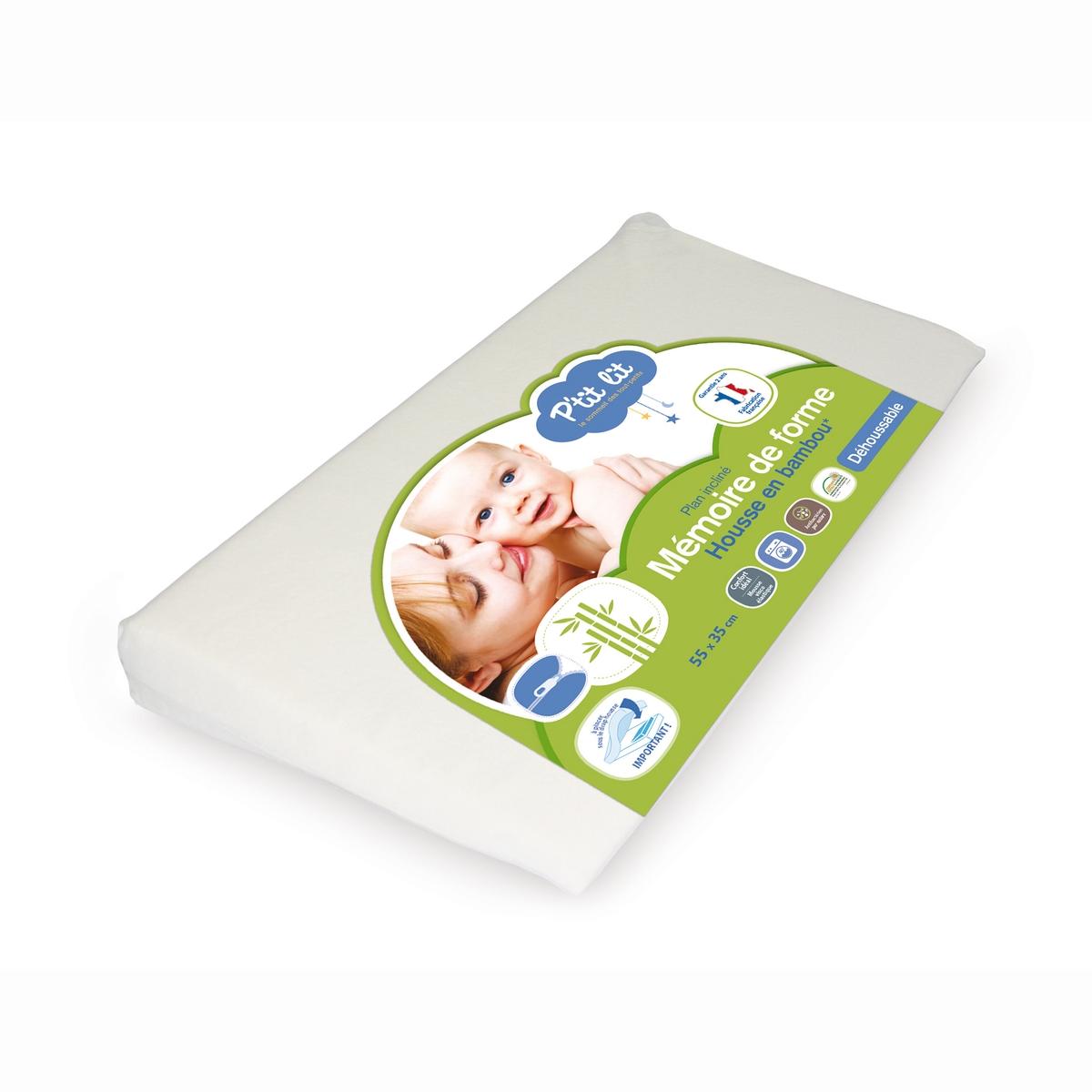 Кроватка P'TIT LITКроватка с наполнителем и памятью формы для спокойных ночей вашего малыша .Характеристики         - Чехол из бамбуковой вискозы, который можно снимать и стирать - Непромокаемый .   - Наполнитель с памятью формы. хорошо пропускает воздух.   - Стирка при 30°C   - Размеры. : 60 x 35 x 7 см .<br><br>Цвет: белый