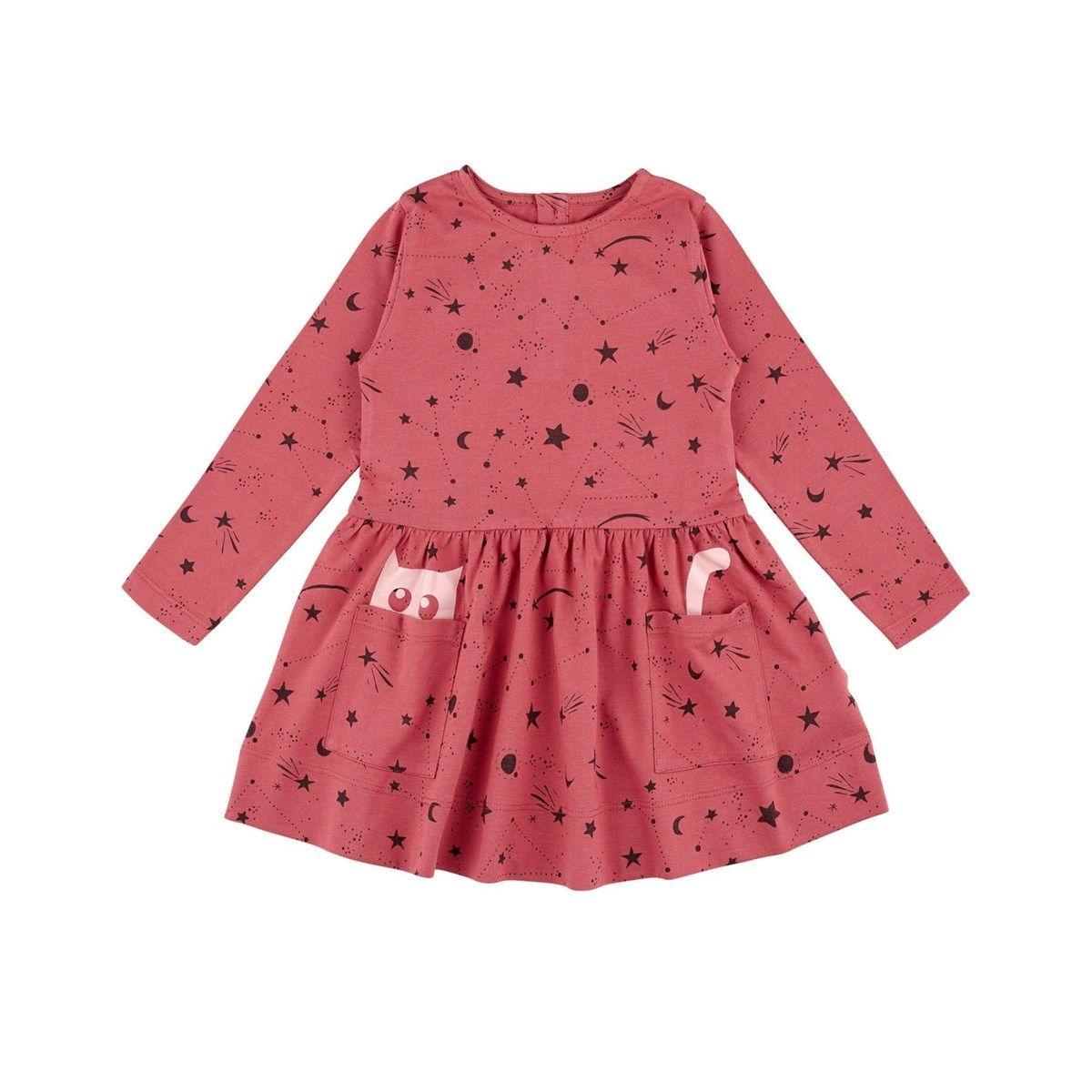 Robe enfant rose automne Coton Bio