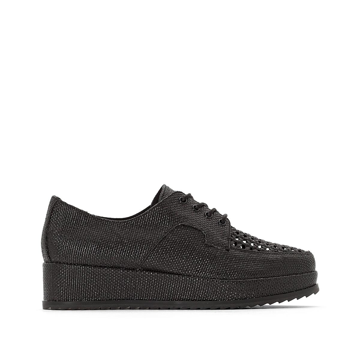 Ботинки-дерби La Redoute На шнуровке на платформе 41 черный ботинки la redoute на шнуровке 38 белый