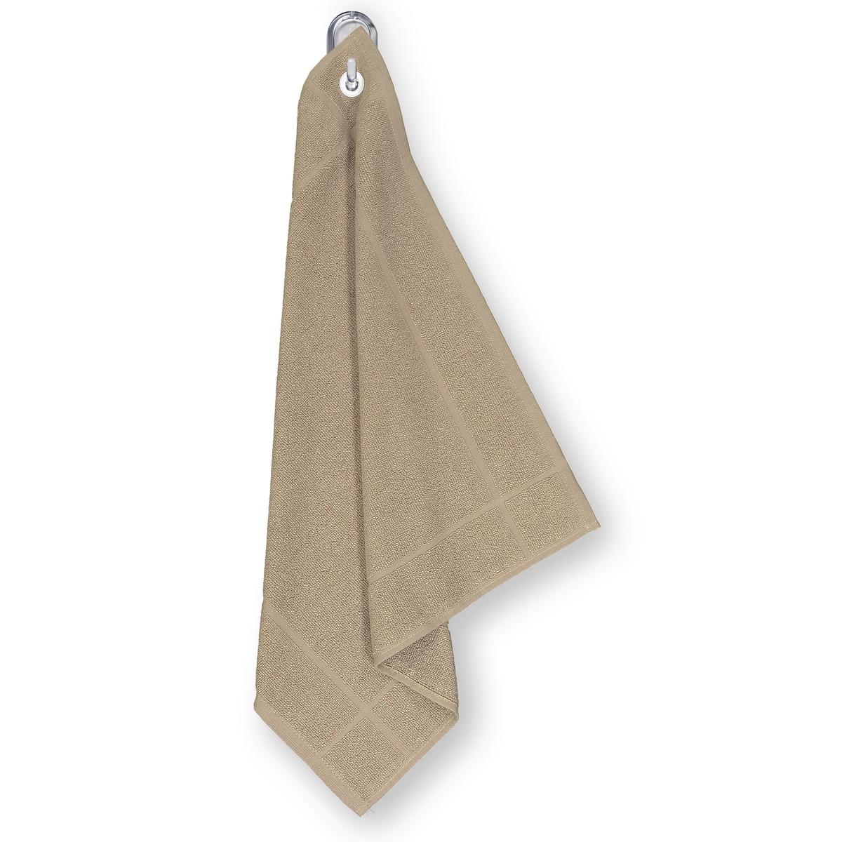 Полотенце для рук из махровой ткани 100% хлопок с люверсом полотенца dome полотенце для рук ribbed цвет серо голубой 40х70 см 10 шт