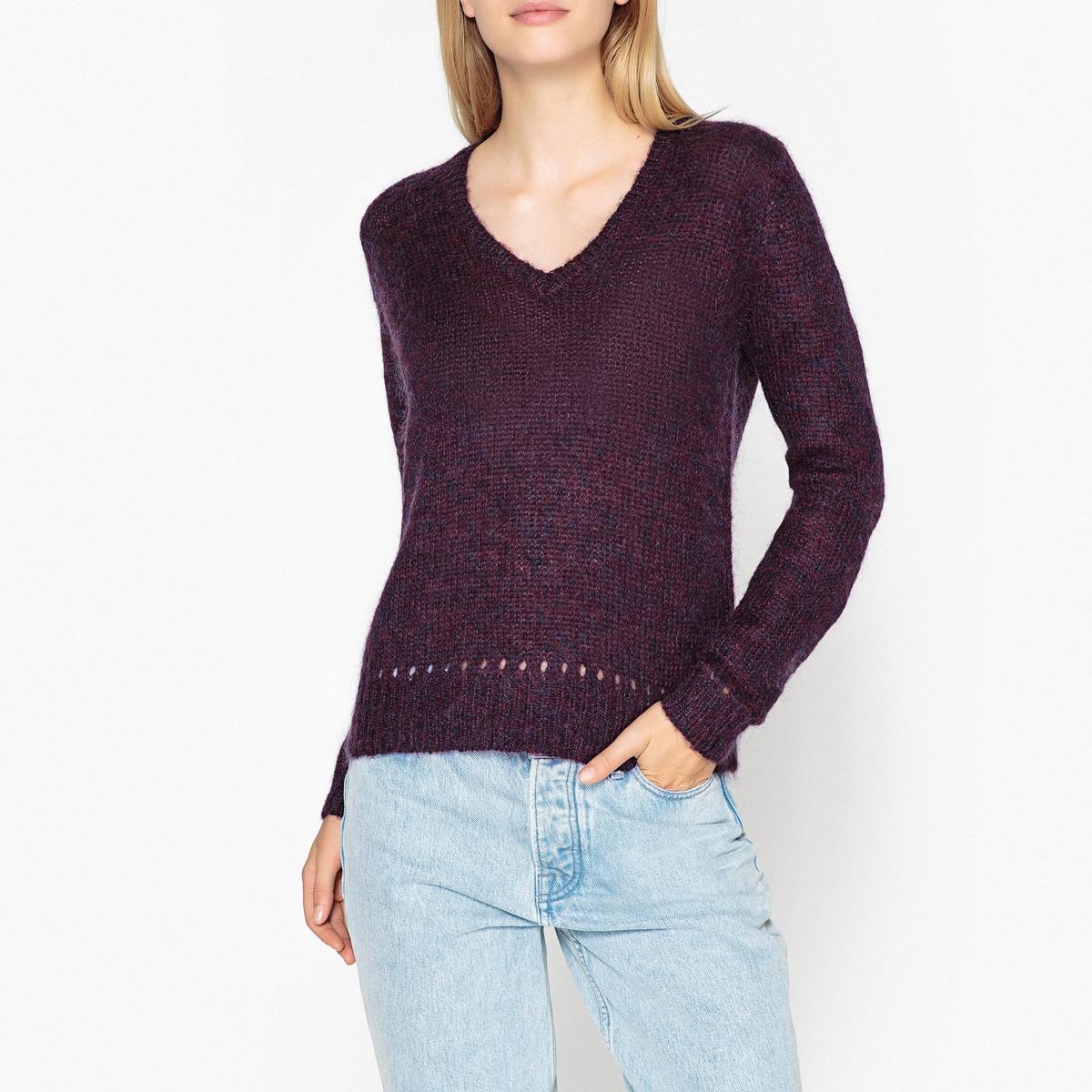 купить Пуловер с V-образным вырезом из тонкого трикотажа MIAOU по цене 13099 рублей