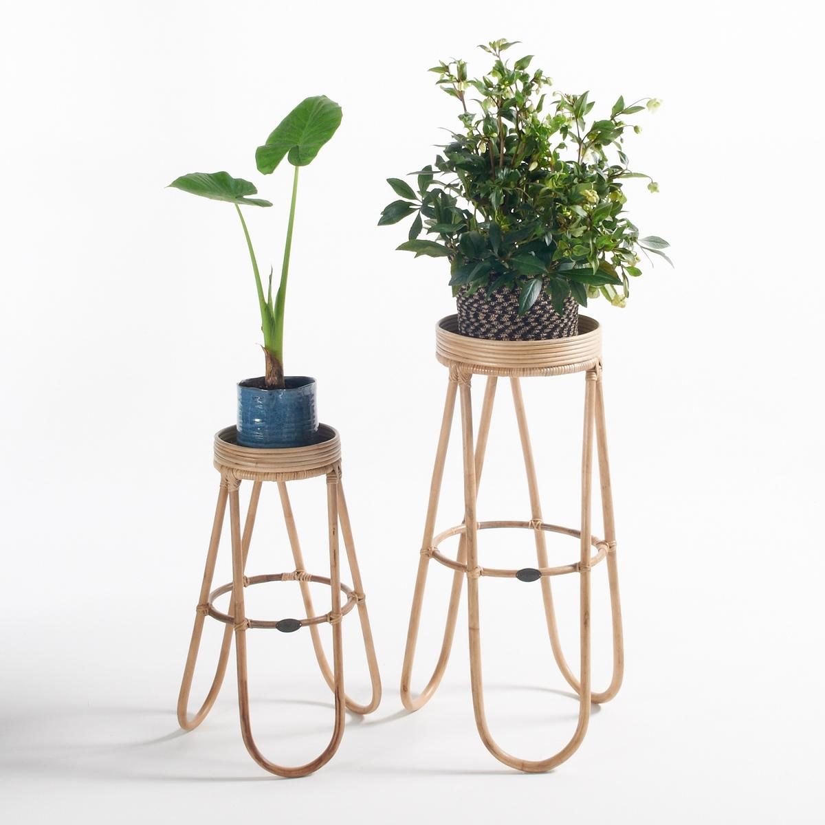 Комплект из 2 столиков для растений AbidaХарактеристики круглых столиков для растений Abida :Натуральный ротанг, покрытие естественного цвета3 изогнутые ножки из ротанга.Круглая столешница.Закругленные ножки.Размеры круглых столиков для растений Abida :Общие размеры маленького столикаДиаметр : 33 смВысота : 63 смОбщие размеры большого столикаДиаметр : 42 смВысота : 84 смРазмеры и вес упаковки :1 упаковка45 x 45 x 87 см6 кгДоставка:Товар продается в собранном виде.Возможна доставка до двери по предварительной договоренности.Внимание! Убедитесь, что возможно осуществить доставку товара, учитывая его габариты (проходит в дверные проемы, лестничные проходы, лифты).<br><br>Цвет: серо-бежевый