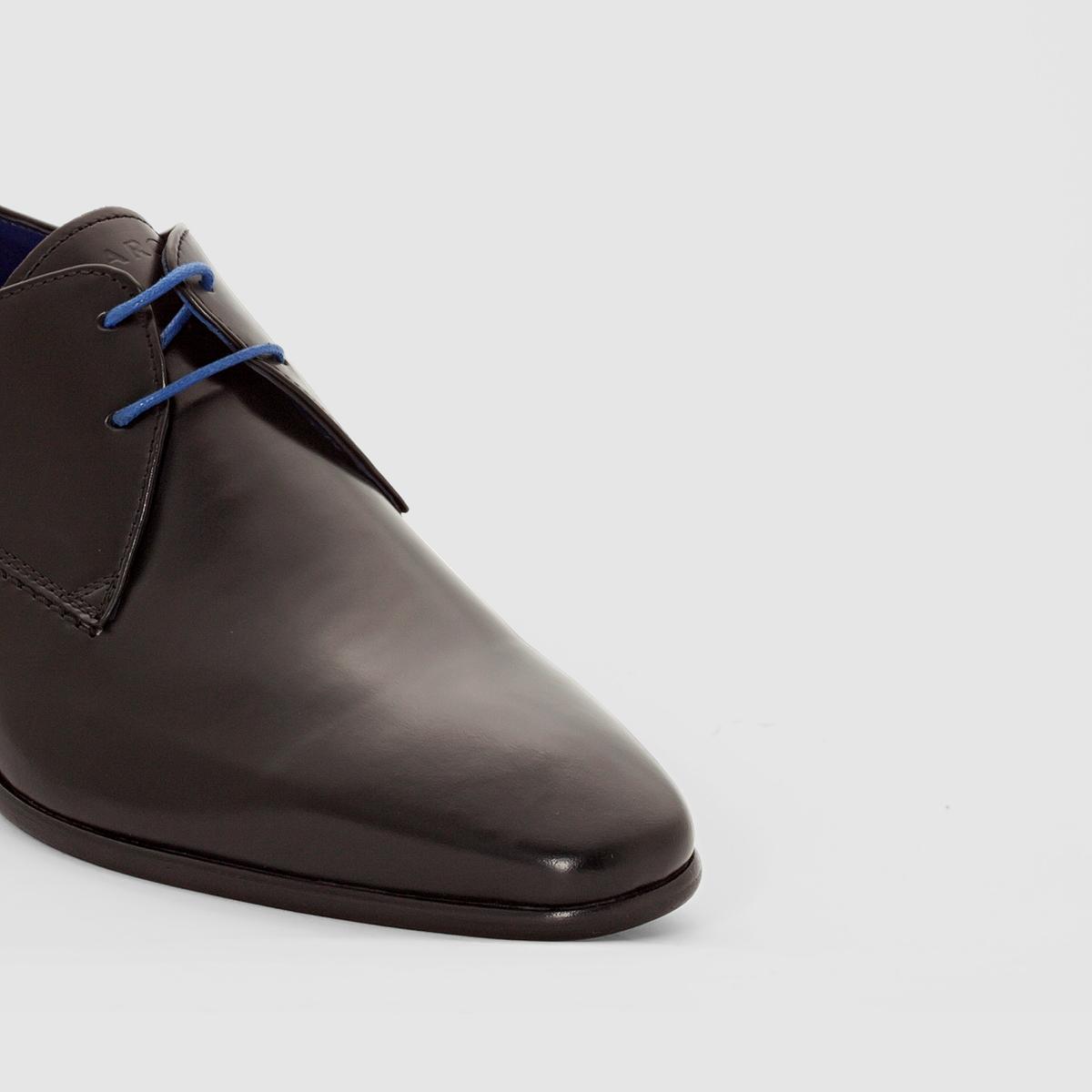 Ботинки-дерби JURICALВерх / Голенище: Кожа            Подкладка : Кожа и тканьСтелька : Кожа     Подошва : из эластомера.     Высота каблука :      Форма каблука : Плоский каблук     Носок : Закругленный.      Застежка : шнуровка.<br><br>Цвет: черный