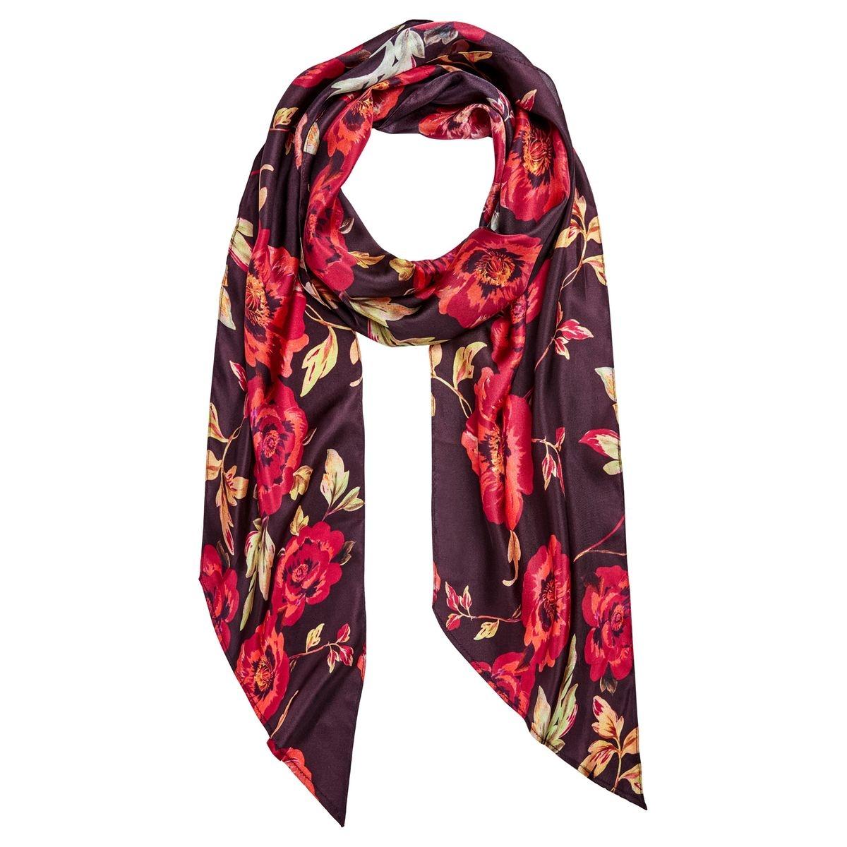Foulard en soie à imprimé floral