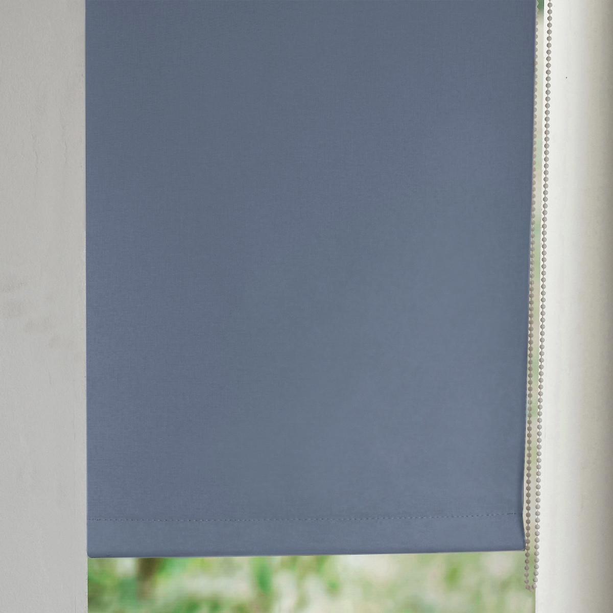 Штора LaRedoute Рулонная затемняющая широкая Scenario 170 x 87 см синий