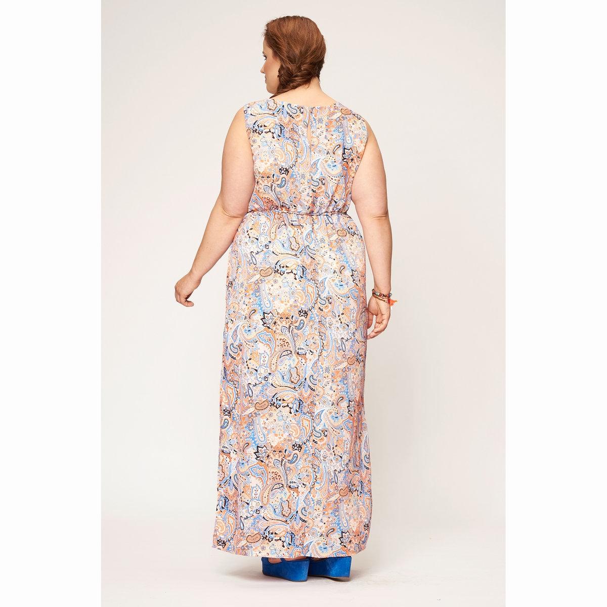 Платье длинноеПлатье длинное без рукавов STUDIO UNTOLD, разноцветное. 100% полиэстера.<br><br>Цвет: разноцветный<br>Размер: 46 (FR) - 52 (RUS)