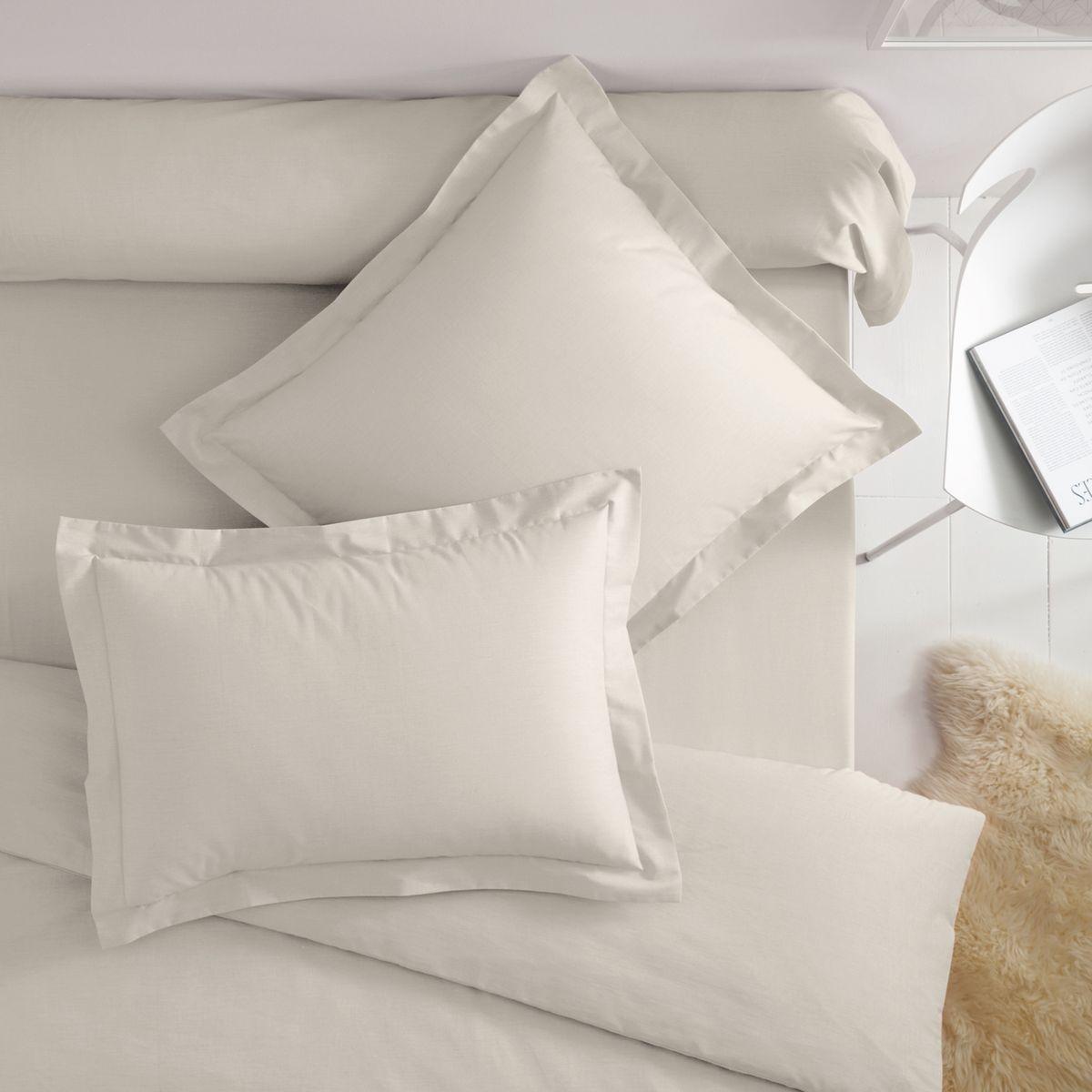 Taies d'oreiller polyester/coton(polycoton) à vola