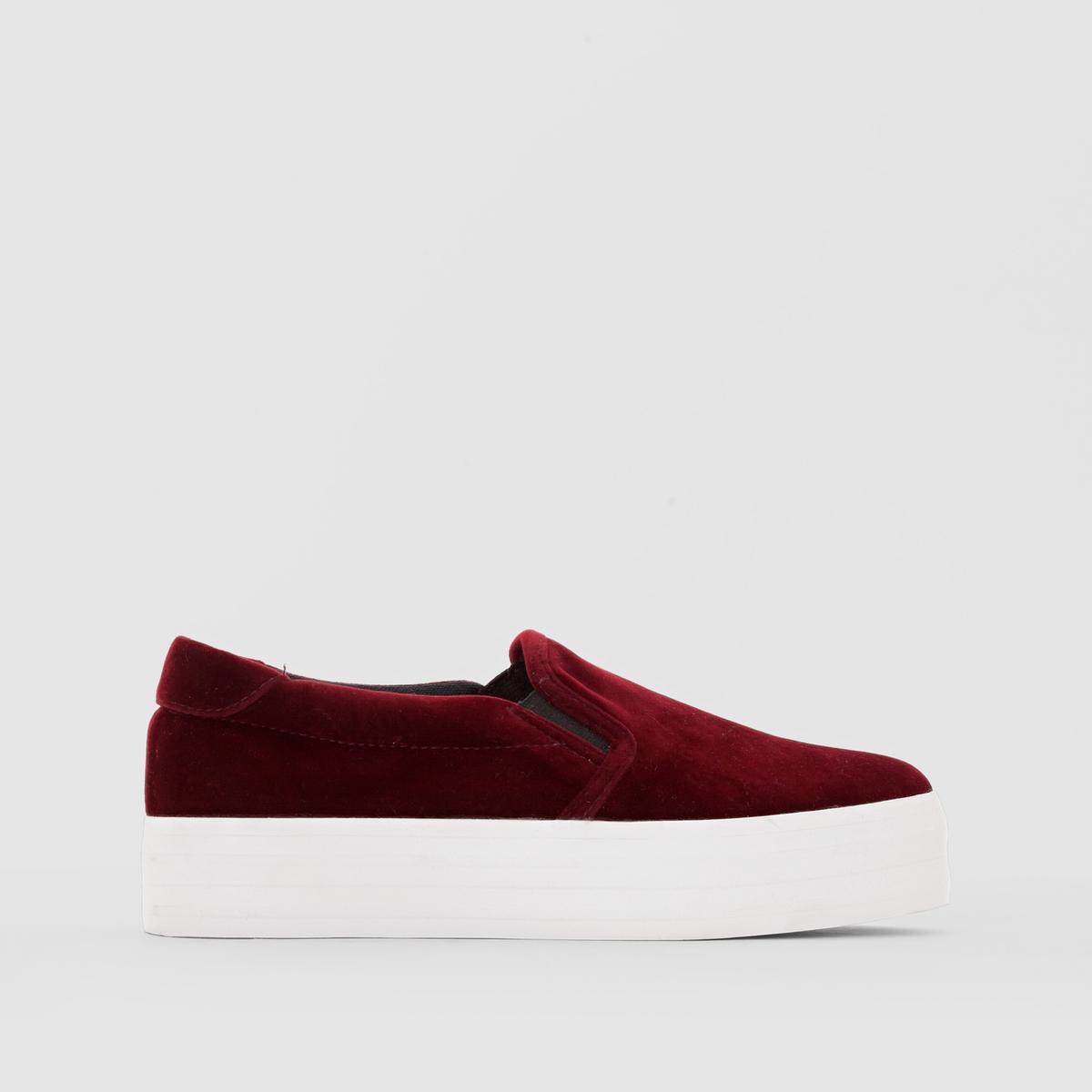 Слипоны на платформеПреимущества : низкие кеды, оригинальная платформа, удобная обувь на каждый день.<br><br>Цвет: бордовый