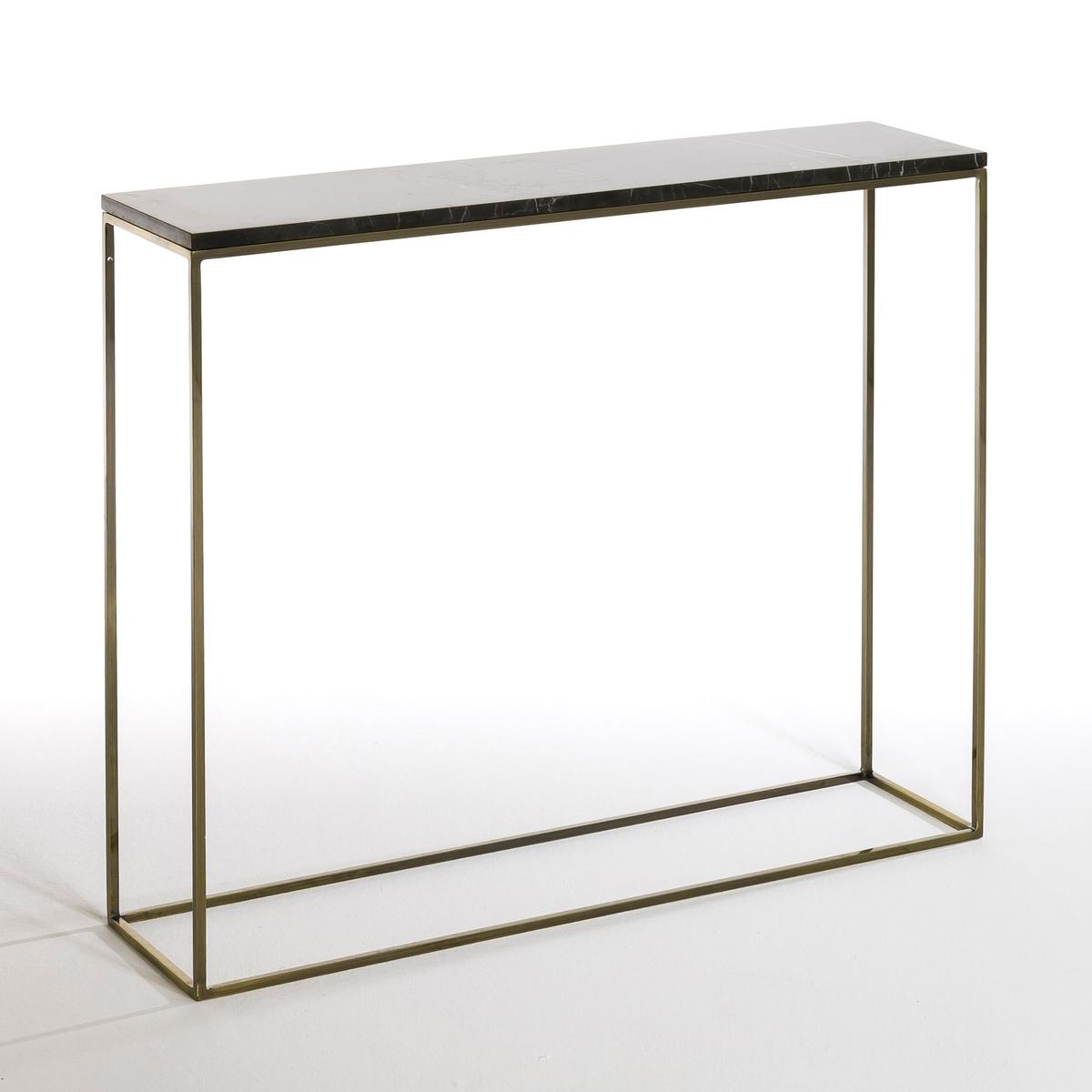 Столик с имитацией латуни и мрамора Mahaut