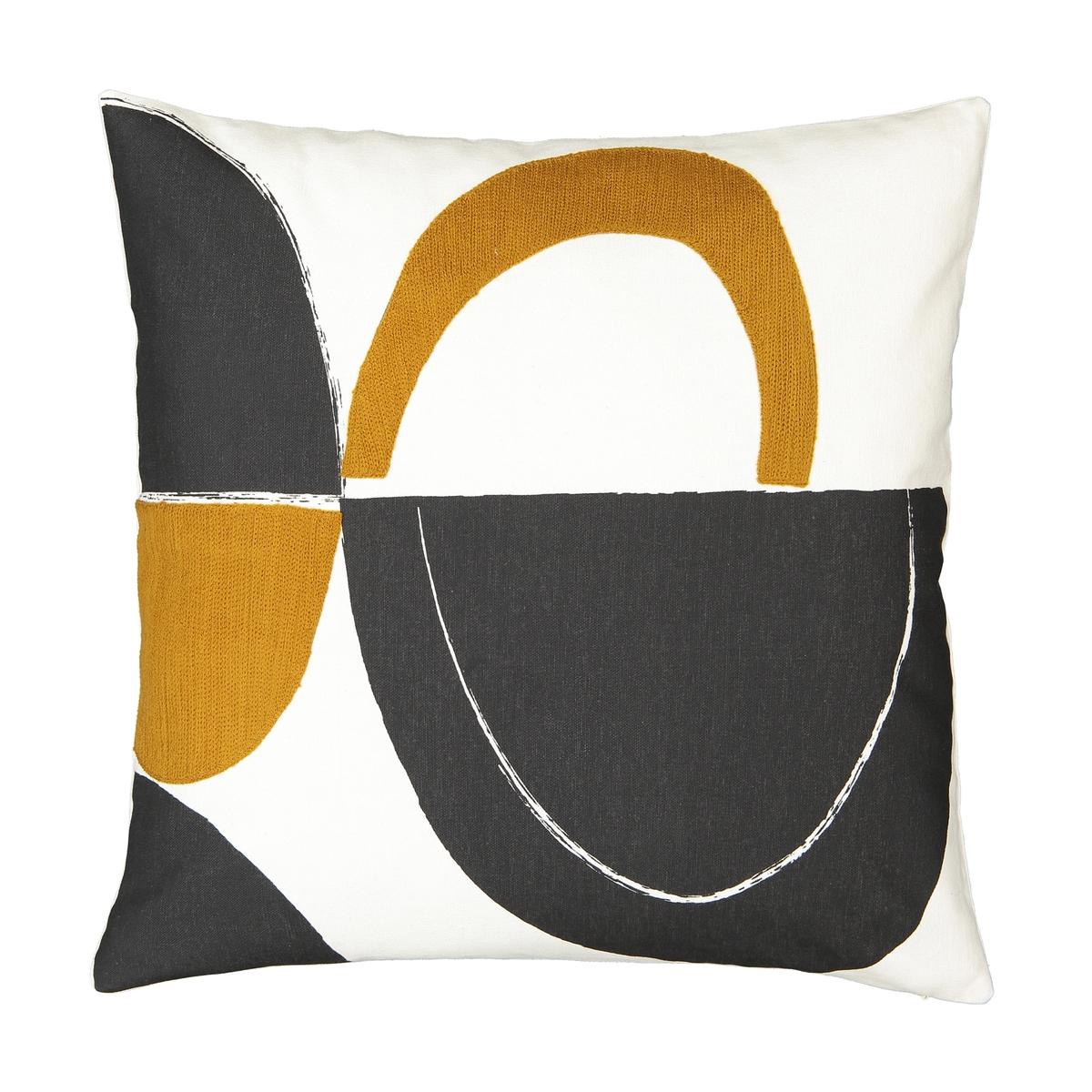 Чехол La Redoute Для подушки Comoe 50 x 50 см разноцветный льняной la redoute чехол для подушки georgette 50 x 30 см желтый