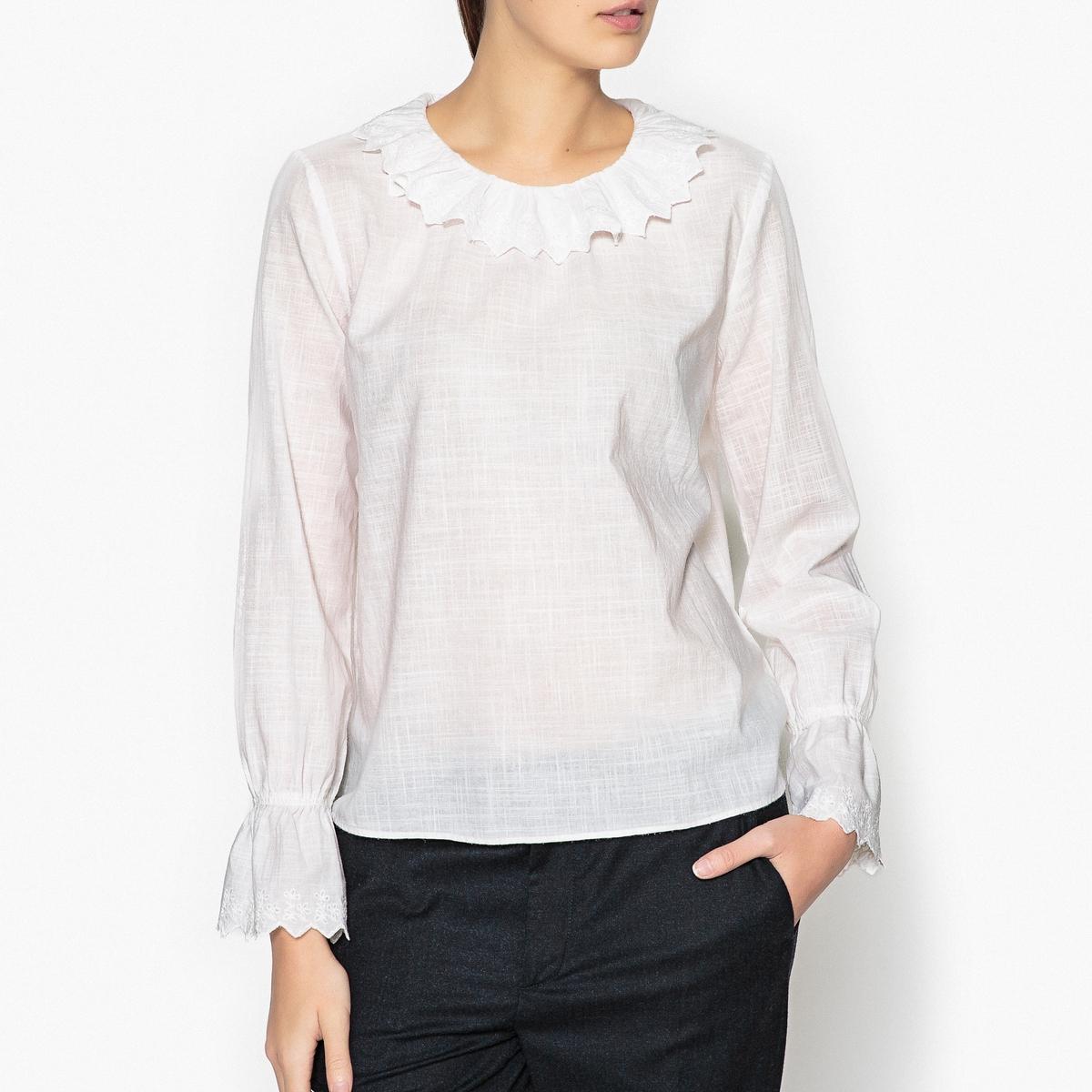 Блузка с воланами CASSIEN