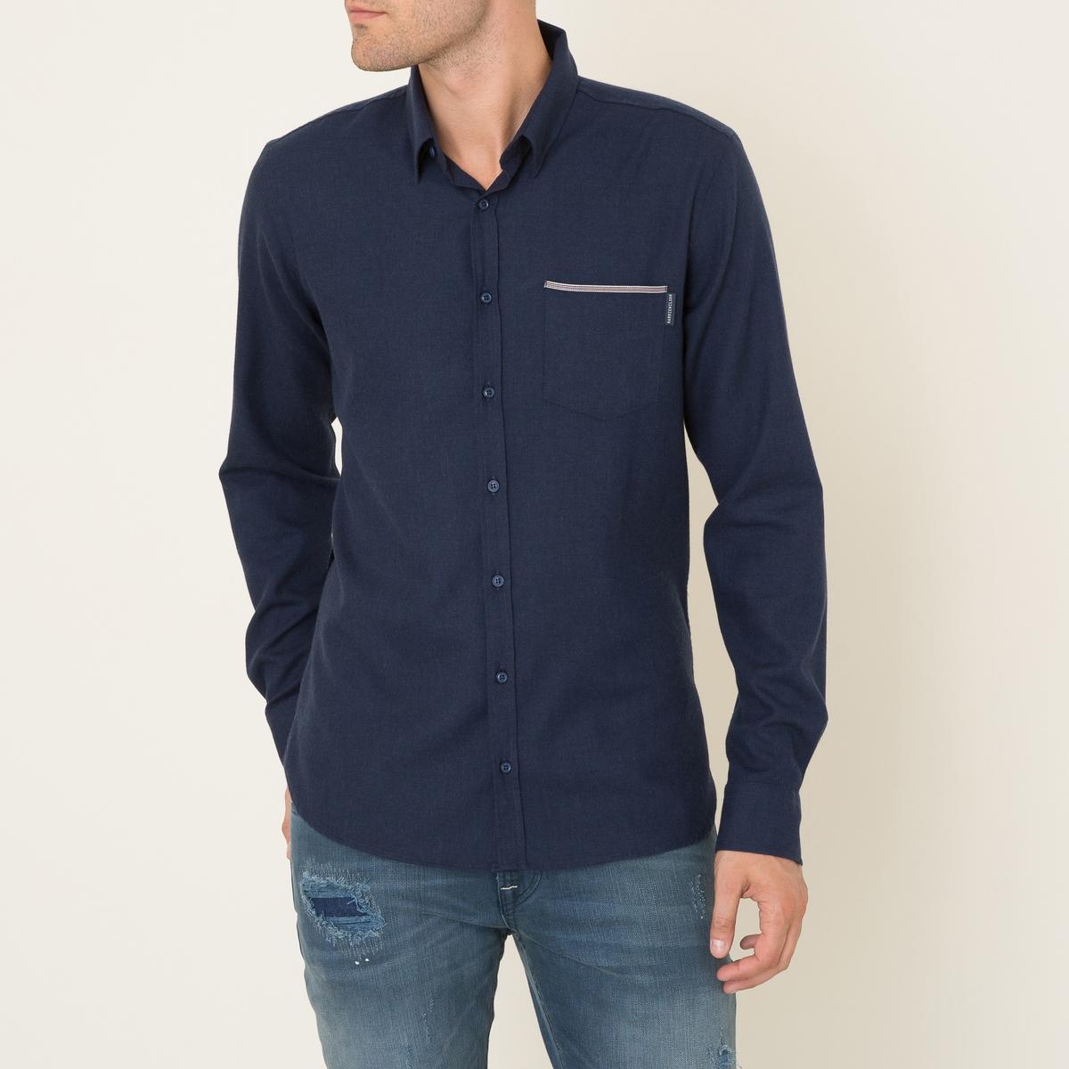 Рубашка OCTAVEСостав и описание Материал : 80% хлопка, 20% шерстиМарка : HARRIS WILSON<br><br>Цвет: темно-синий