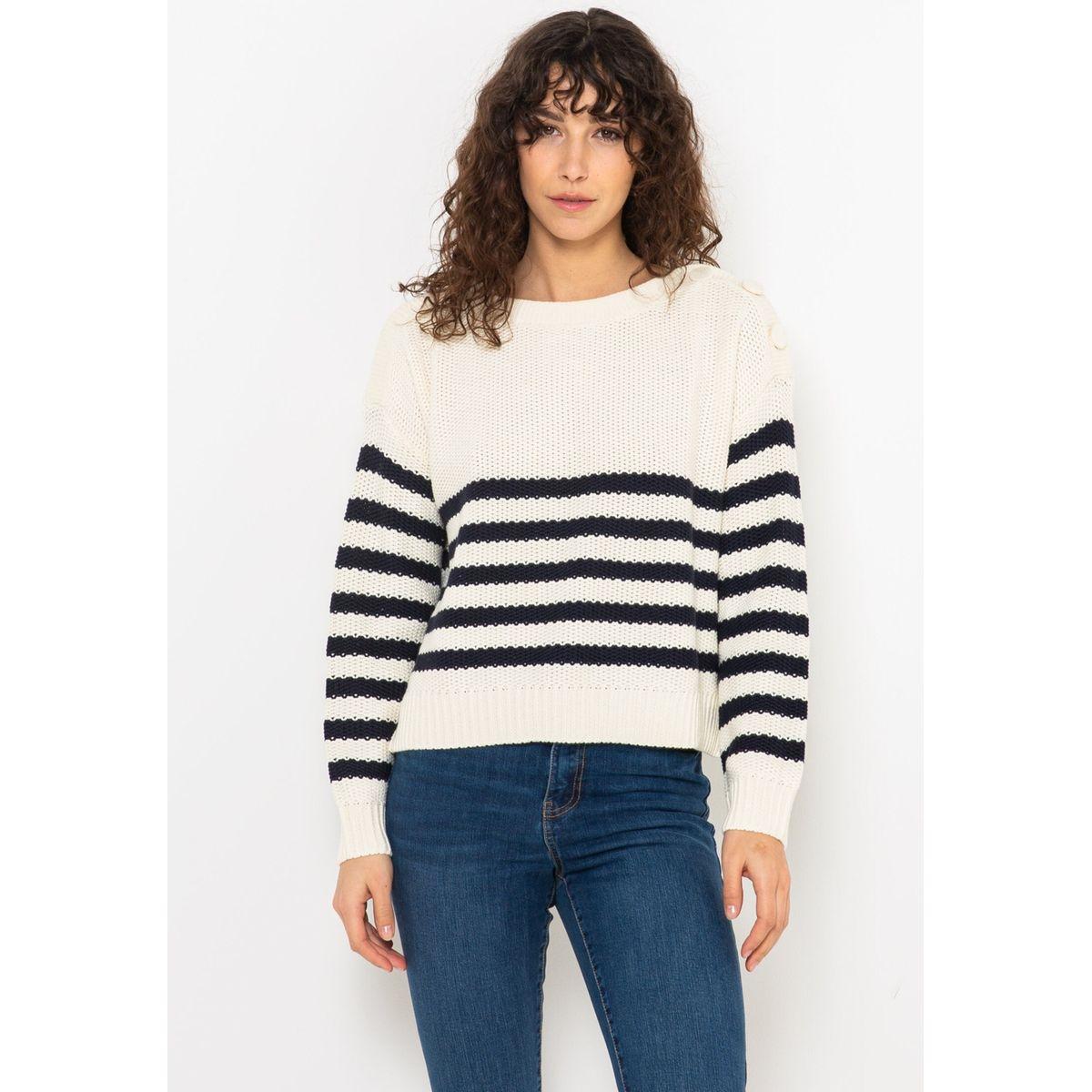 Pull marinière tricoté