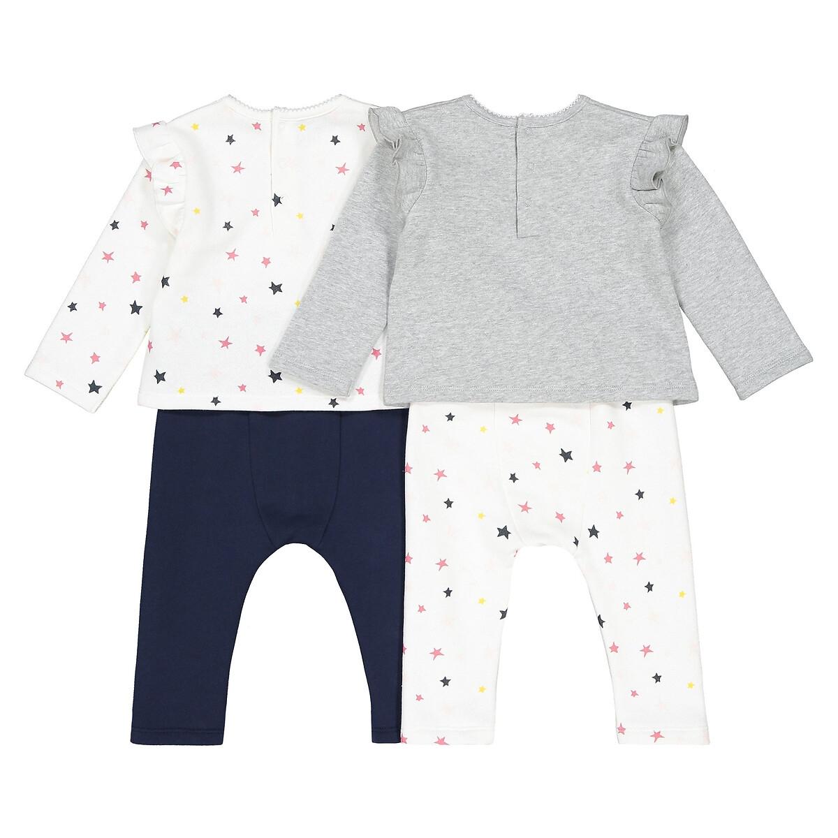 Фото 2 - Комплект из 2 раздельных пижам LaRedoute серого цвета