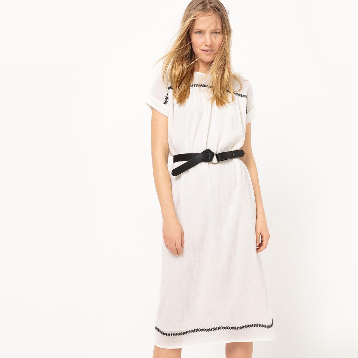 Платье-кафтан с короткими рукавами