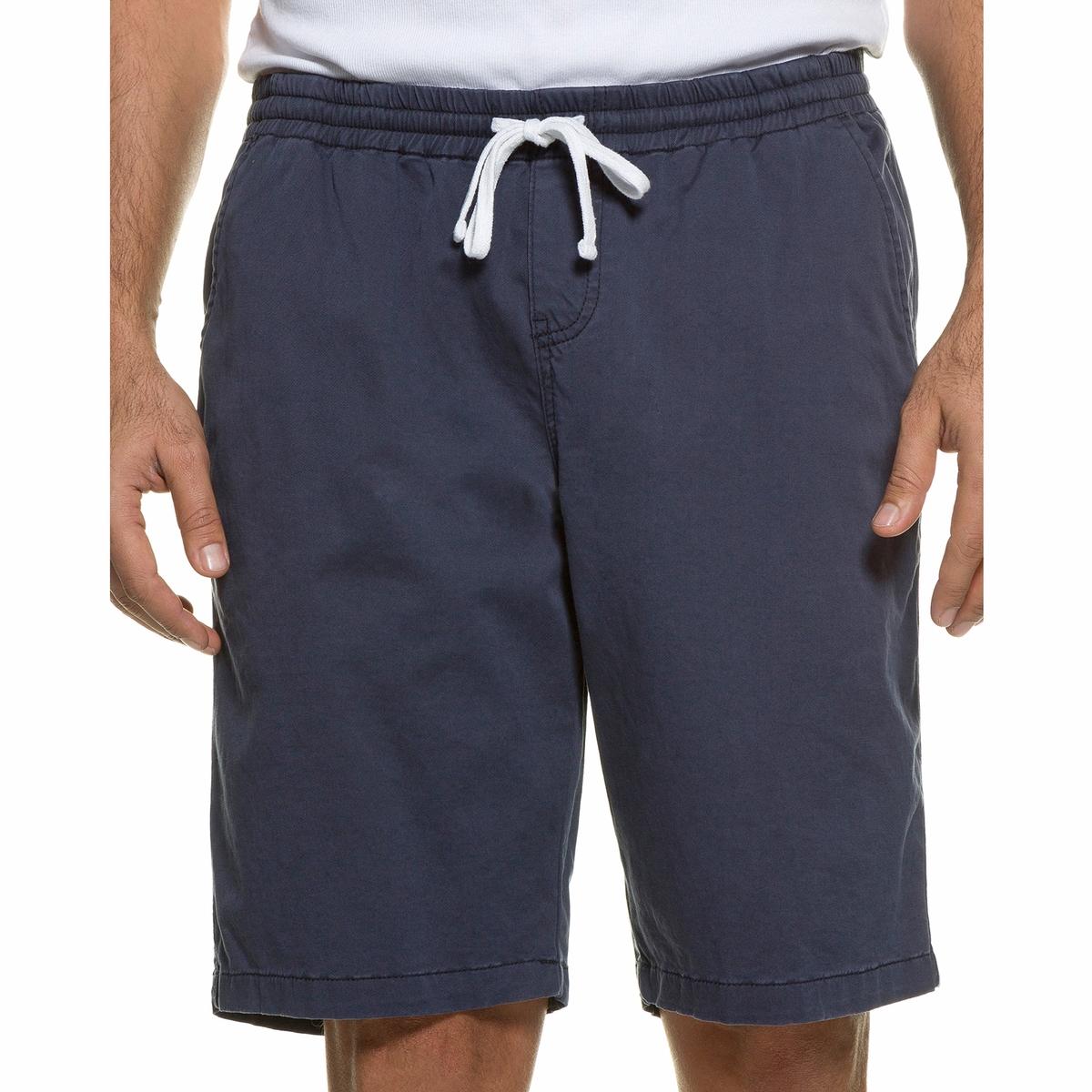 БермудыБермуды без застежки JP1880, с эластичным поясом с завязками. 3 кармана. Прямой покрой, слегка заниженная талия, зауженные бедра и брючины. 98% хлопка, 2% эластана. Длина по внутр.шву 26-33 см<br><br>Цвет: синий<br>Размер: XL