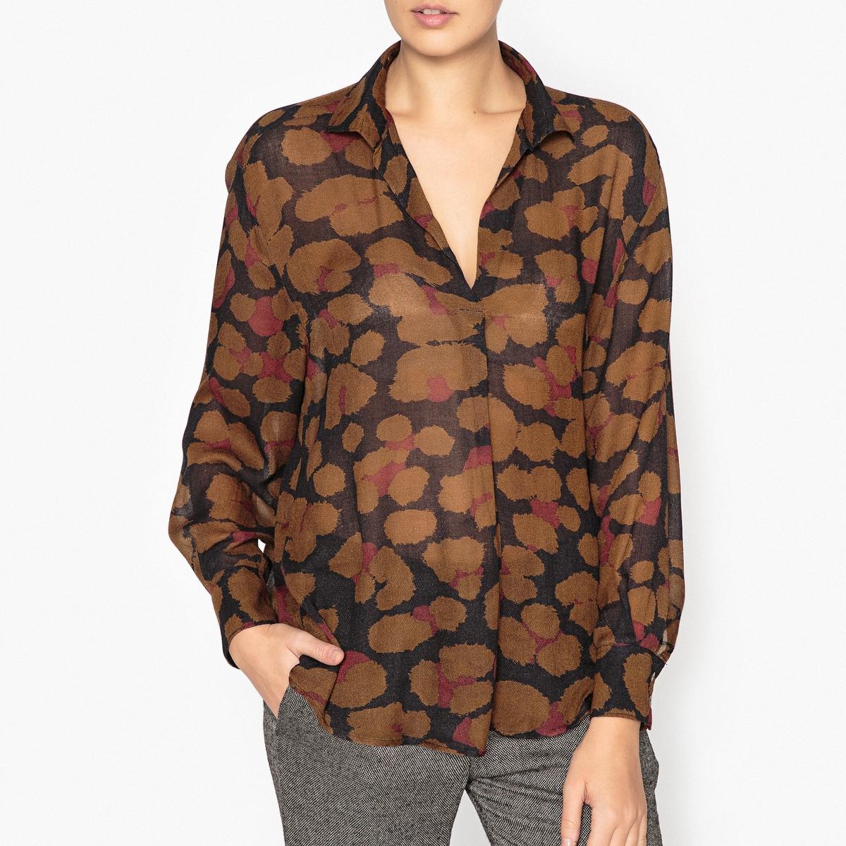 Блузка струящаяся с рисунком CIARITA