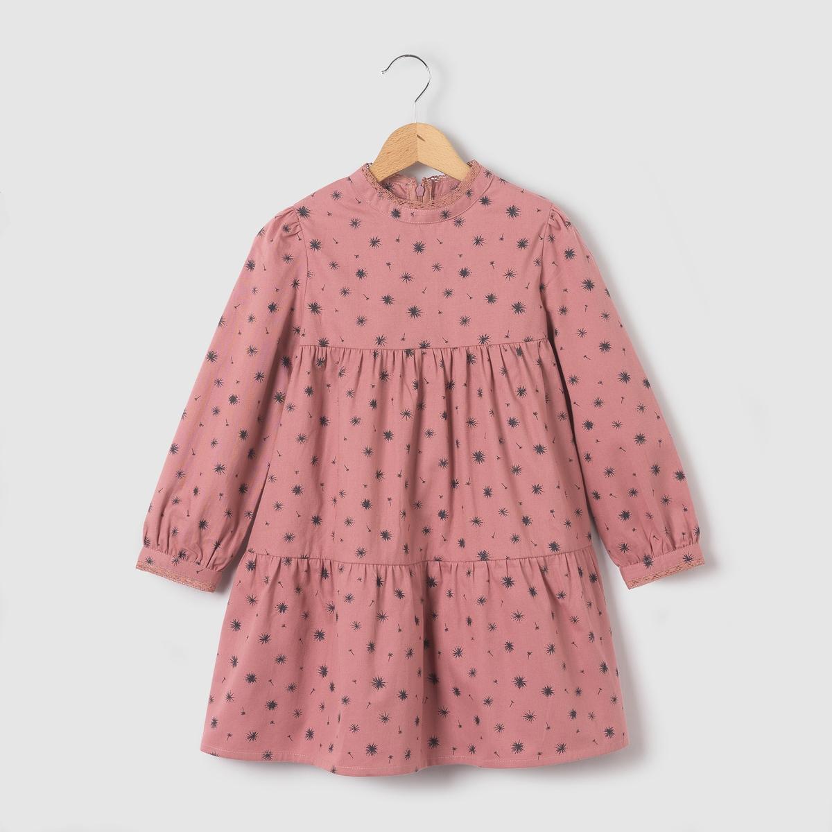 Платье с принтом одуванчик 3-12 лет
