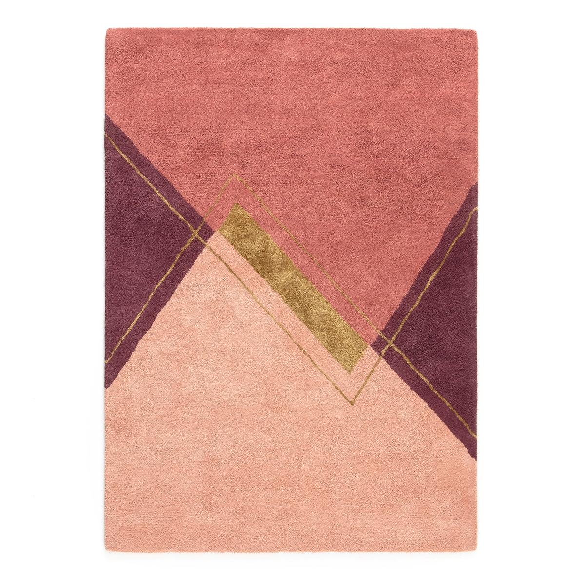 цена Ковер La Redoute Из хлопка и вискозы ALABAMA 120 x 170 см розовый онлайн в 2017 году