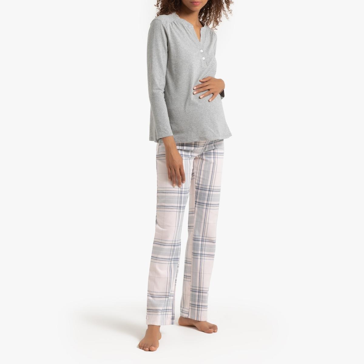 Пижама La Redoute Для беременных и кормящих грудью 52 (FR) - 58 (RUS) серый купальник la redoute раздельный для периода беременности 46 fr 52 rus синий
