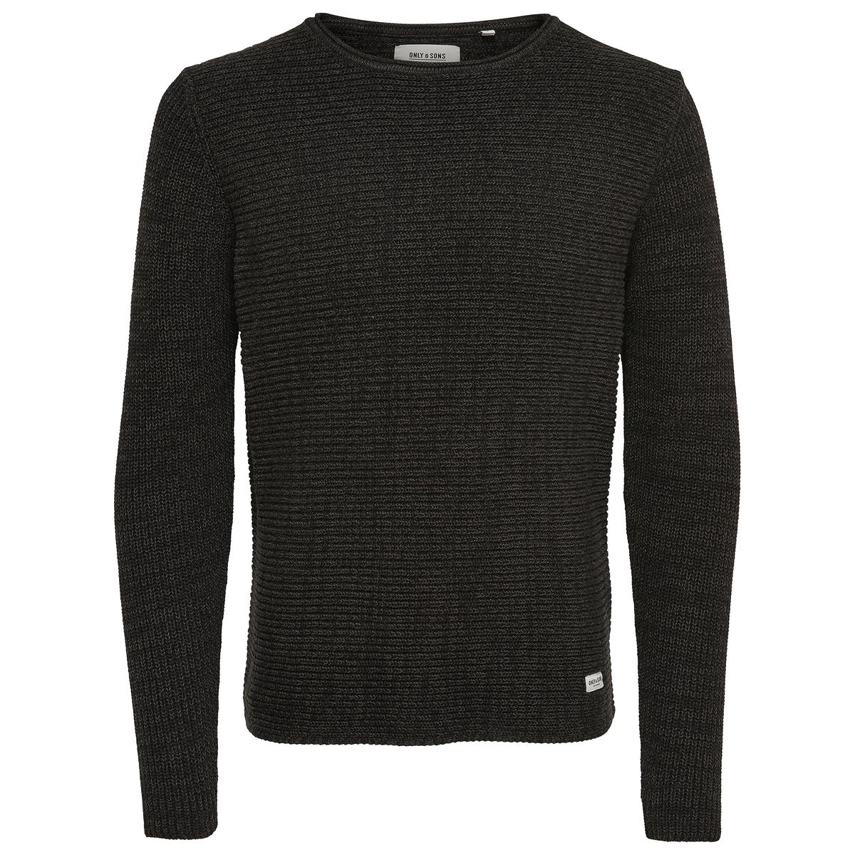 Пуловер однотонный SatoСостав и описание:Материал: 100% хлопка.Марка: ONLY &amp; SONS.<br><br>Цвет: черный