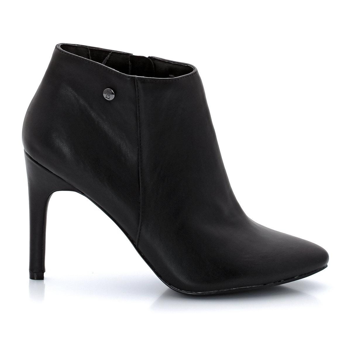Ботильоны TreviseНеоспоримые плюсы: супер модный и бескомпромиссный стиль. Ботильоны на высоком каблуке, которые не оставят никого равнодушным.<br><br>Цвет: черный<br>Размер: 37