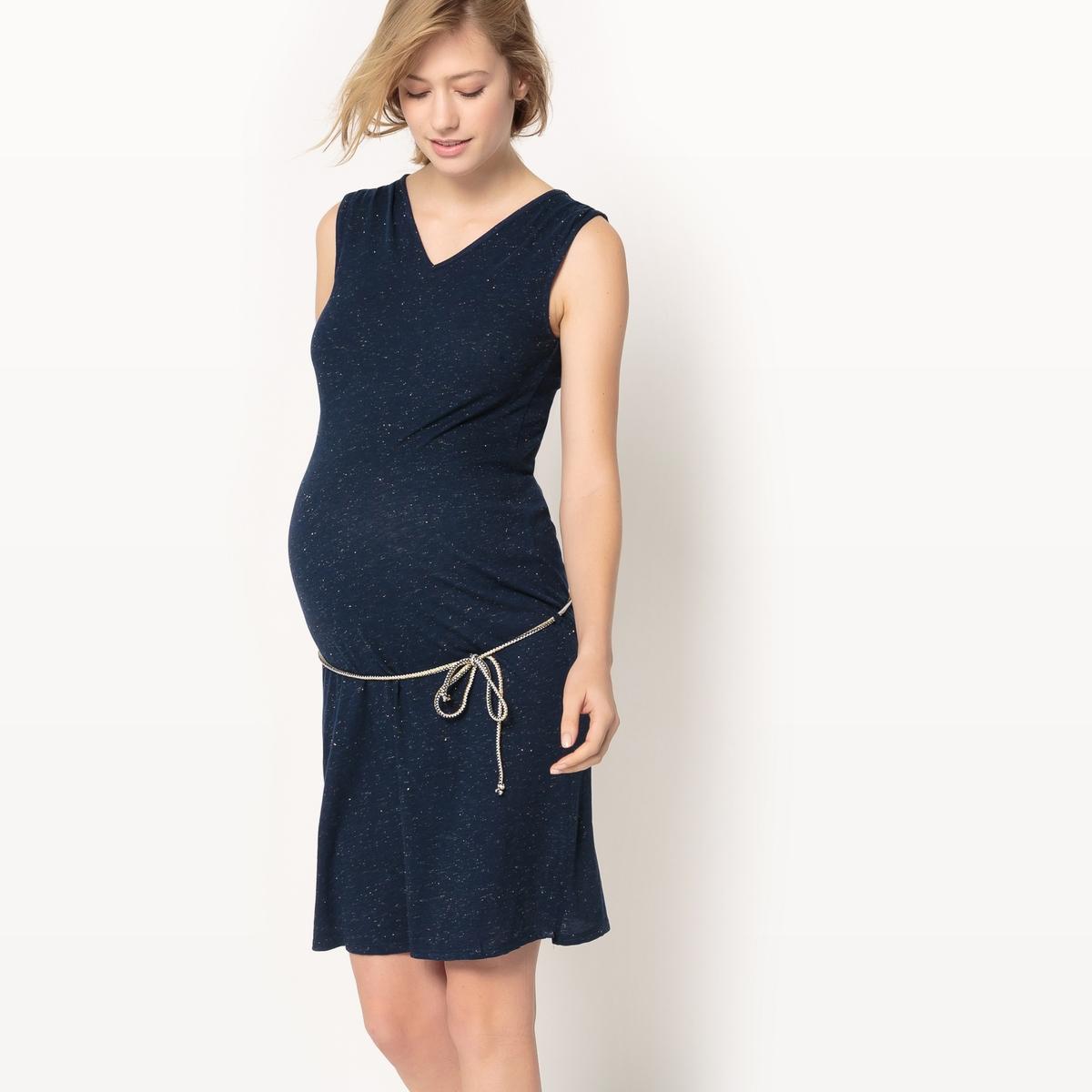 Платье без рукавов для периода беременности