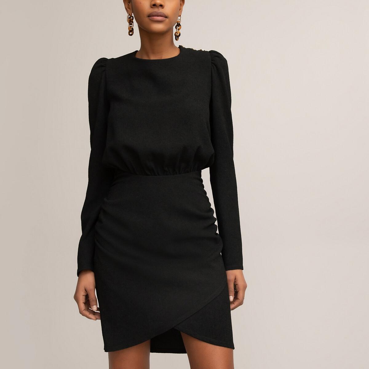 . LaRedoute La Redoute 46 (FR) - 52 (RUS) черный платье la redoute короткое расклешенное в горошек с ажурными бретелями 42 fr 48 rus синий