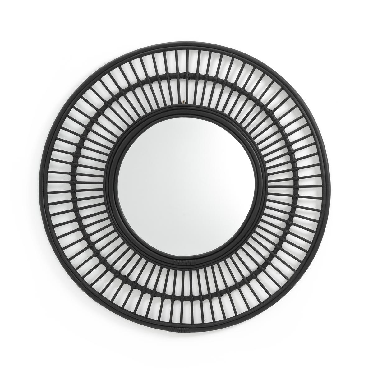 цена Зеркало La Redoute Круглое из ротанга см Nogu единый размер черный онлайн в 2017 году