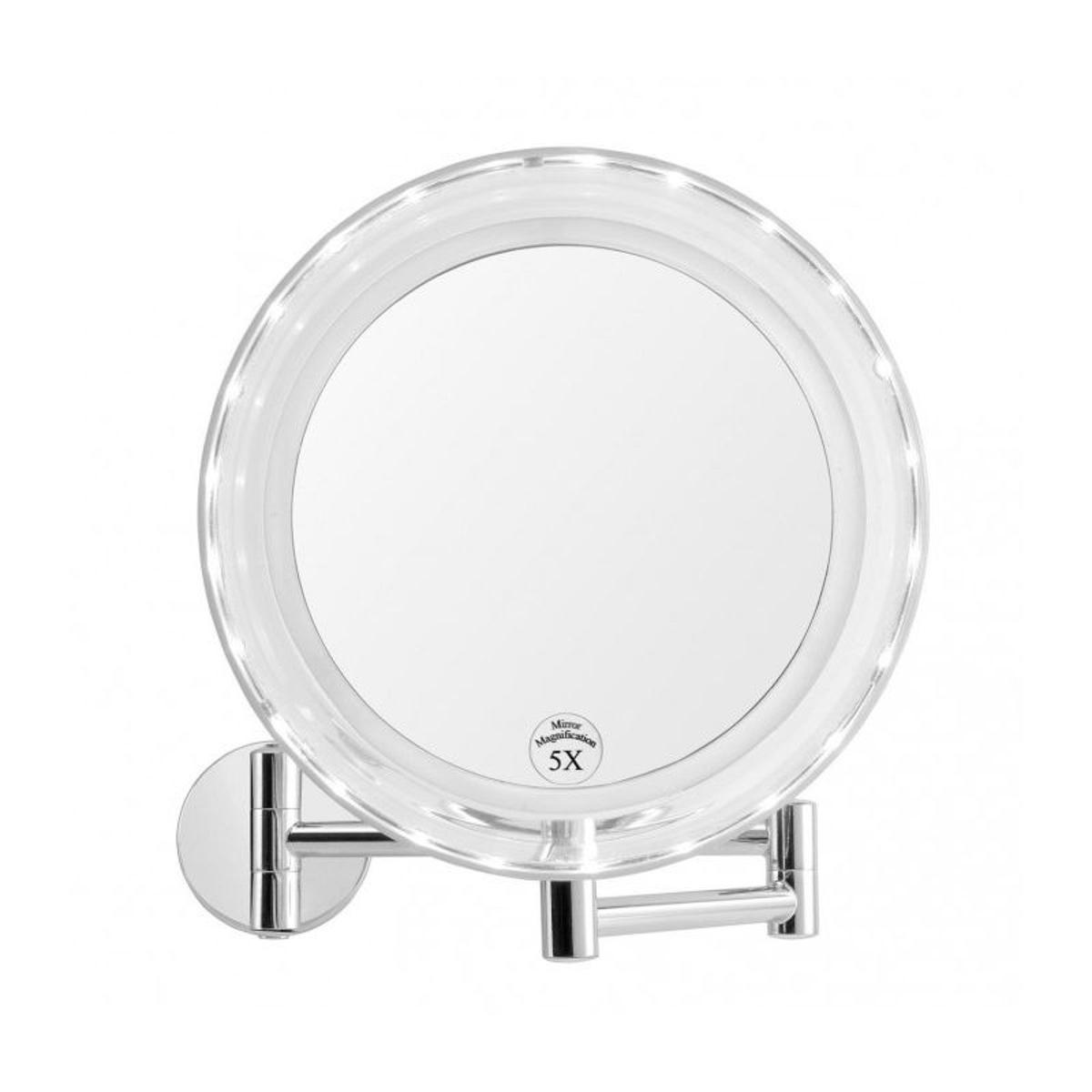 miroir grossissant lumineux sur pied miroir grossissant. Black Bedroom Furniture Sets. Home Design Ideas