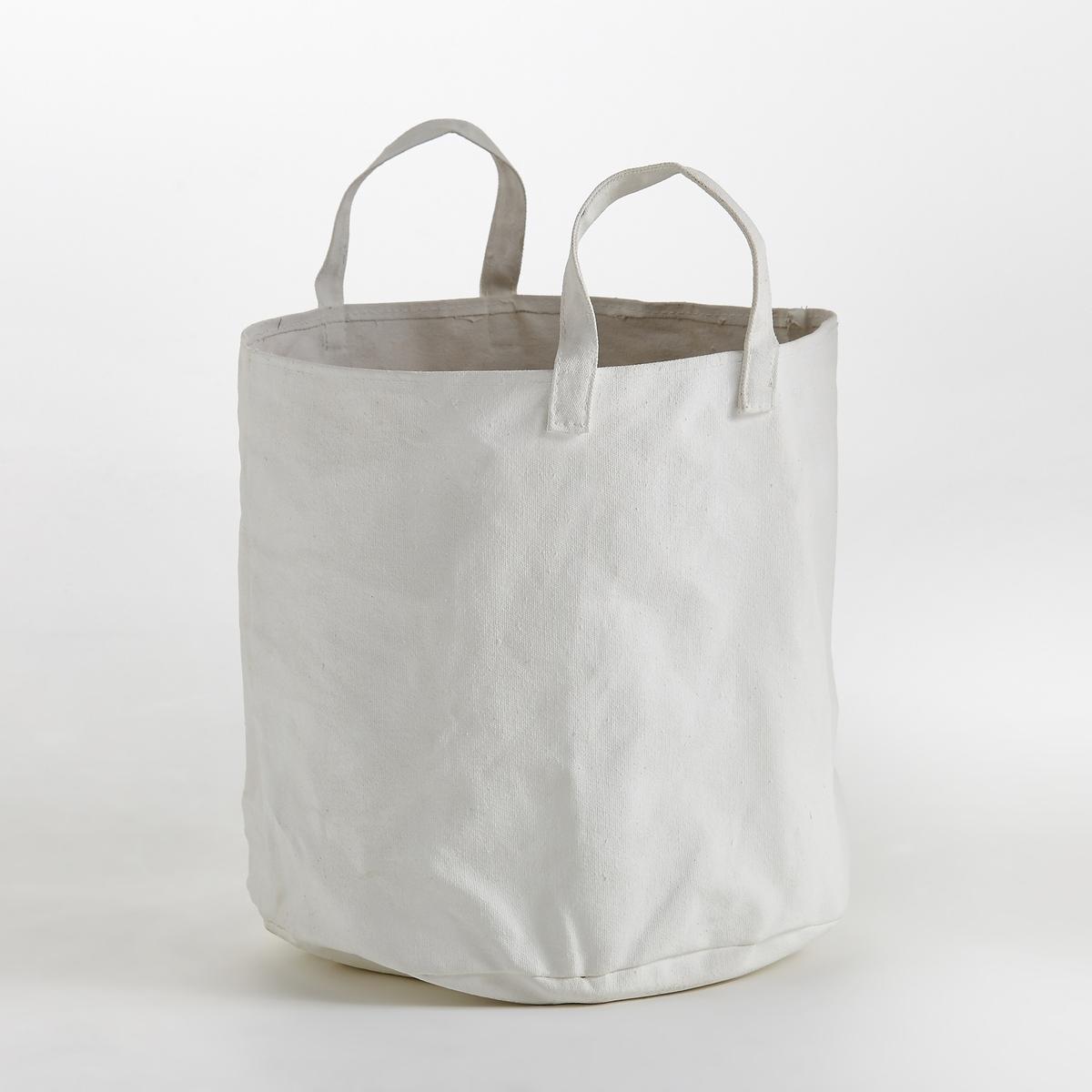 Сумка из канвы с пропиткой, большая модель Marie MichielssenБольшая сумка, дизайн Мари Мишельссен для Serax. Сумку можно использовать как кашпо или для хранения любых вещей : журналы, пледы… 2 большие ручки позволяют повесить ее, чтобы придать оригинальности декору. Характеристики: : - Из 100% хлопка с обработкой бесцветным лаком для придания прочности и хорошей поддержки - Поставляется с непромокаемой сумкой из прозрачного пластика- Чистить с помощью влажной тряпки. Не стирать в стиральной машине  Размеры  : - ?37 x В35 см<br><br>Цвет: белый