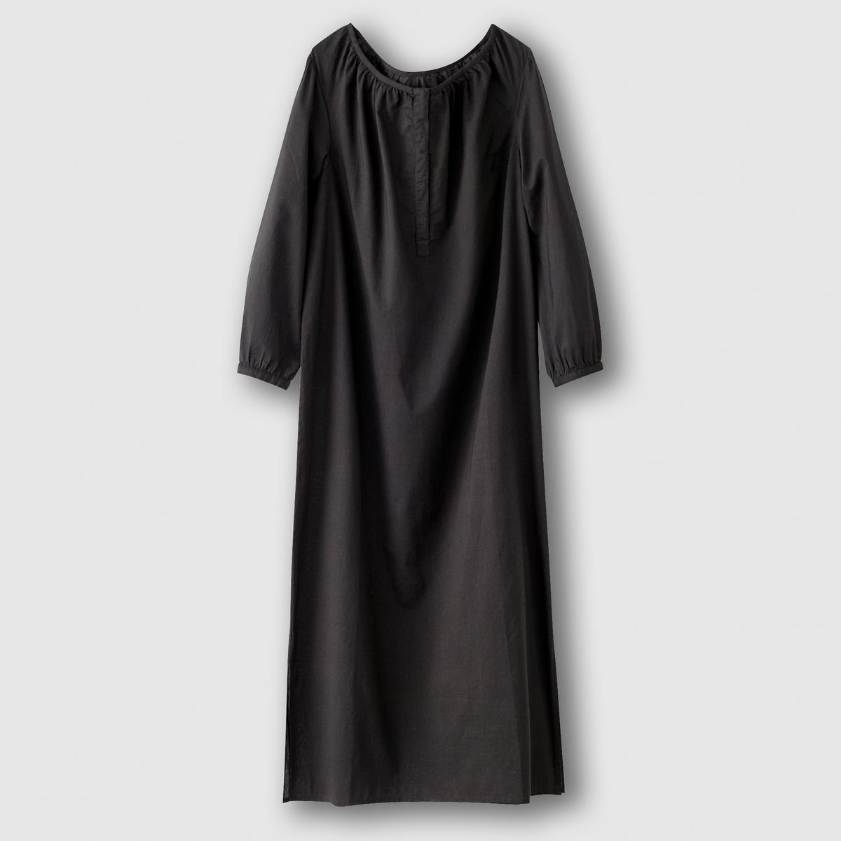 Платье из хлопковой вуалиСостав и описание           Материал вуаль  100% хлопка          Марка COULEUR  D'?T?                       Уход          Машинная стирка при 30°C на деликатном режиме           Машинная сушка запрещена           Глажение при средней температуре<br><br>Цвет: черный<br>Размер: 38 (FR) - 44 (RUS)