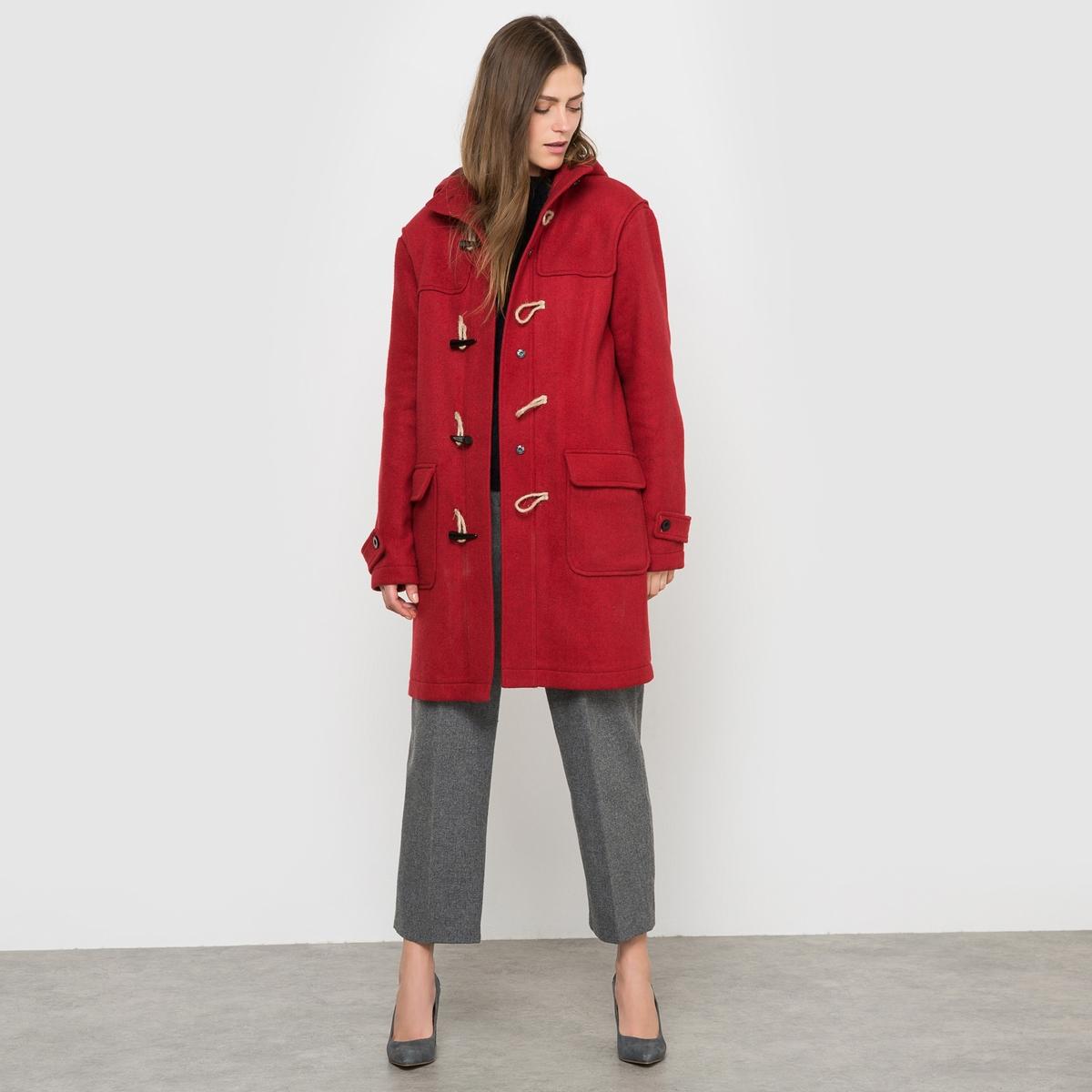 Пальто короткое с капюшономСостав и описаниеМатериал 45% акрила, 25% шерсти, 25% полиэстера, 5% другие материалыДлина 91 смМарка COLLECTOR  УходСухая чистка - Не отбеливать - Гладить на низкой температуре -Барабанная сушка запрещена.<br><br>Цвет: красный