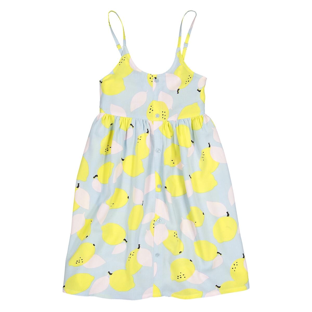 Платье La Redoute На тонких бретелях с принтом лимоны 10 лет - 138 см другие