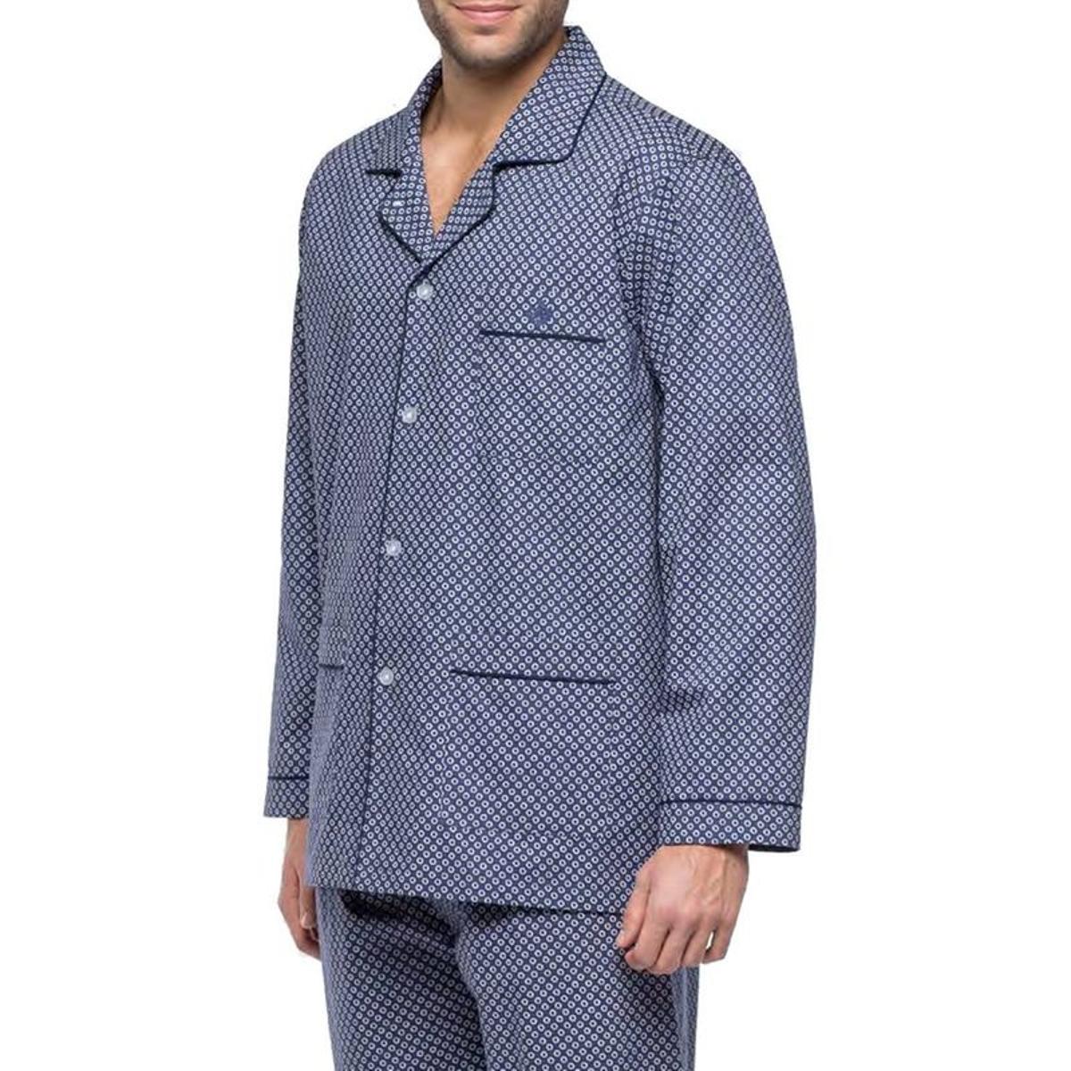 Pyjama long   en popeline de coton