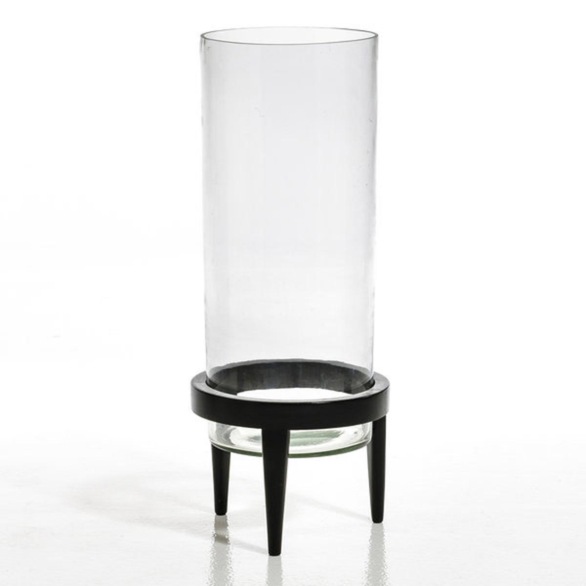 Террариум Bocage из стекла и мангового дерева, диаметр 25,5 смОригинальный террариум позволяет подчеркнуть растения, растущие внутри.Размеры :Размер 1 : диаметр 20 x высота 40 смРазмер 2 : диаметр 25,5 x высота 60 см<br><br>Цвет: черный