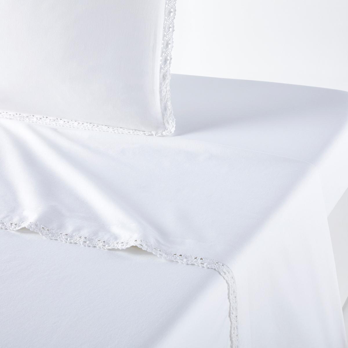 Фото - Простыня LaRedoute 100 стираный хлопок Alhambra 240 x 290 см белый простыня la redoute натяжная стираный хлопок semeru 180 x 290 см черный