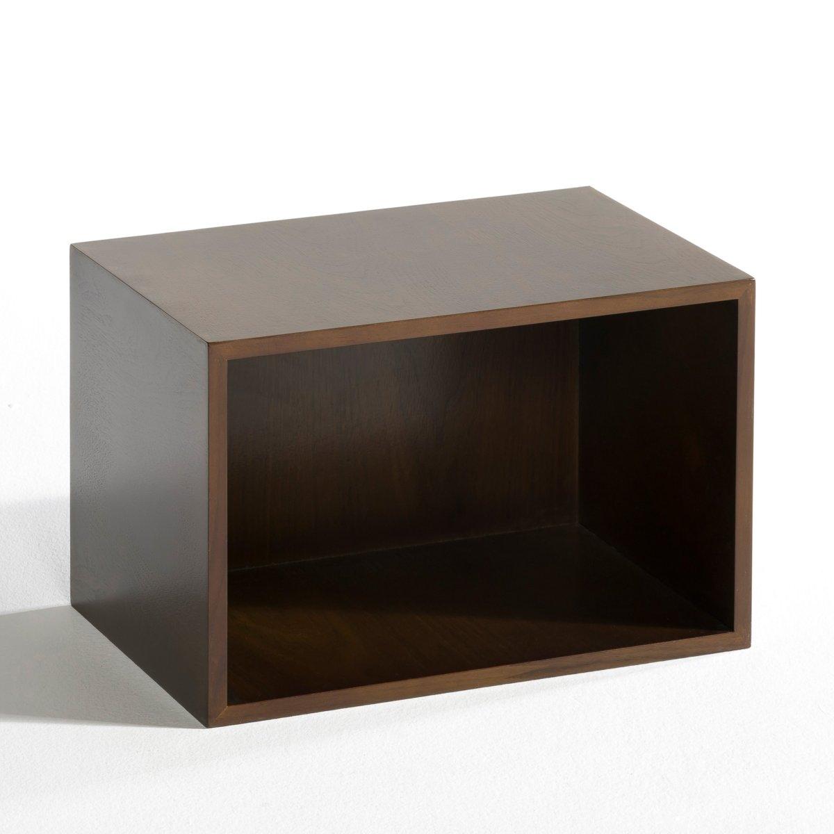 Ящик Trebor по дизайну Э. Галлинаиз орехового дерева .- Размер. .25 x .37 x .25 см. - Можно расположить горизонтально или вертикально .<br><br>Цвет: ореховый