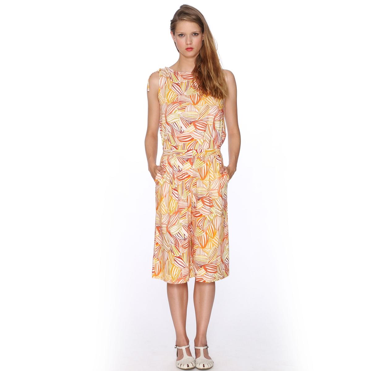 Бермуды с рисунком - PEPALOVES, Trouser MurielБермуды, модель Trouser Muriel от PEPALOVES. Объемный покрой. Сплошной цветочный рисунок. 2 боковых кармана.Состав и описание:Материал: 55% льна, 45% хлопка.Марка: PEPALOVE<br><br>Цвет: оранжевый/рисунок<br>Размер: S
