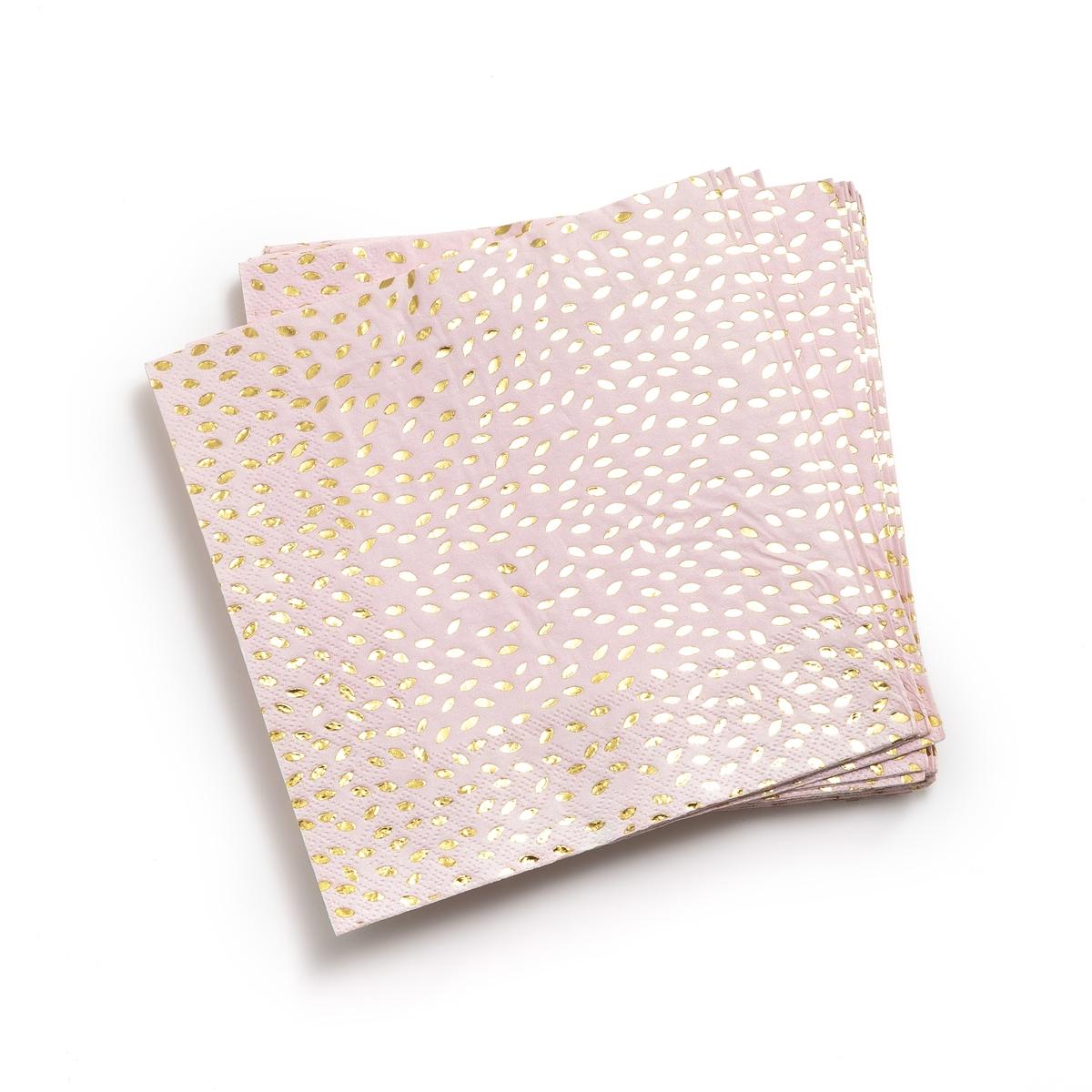 Салфетка бумажная F?LIA (16 шт.)Описание:16 бумажных салфеток La Redoute Interieurs с праздничным рисунком.Характеристики 16 бумажных салфеток •  Из бумаги •  Розового цвета с рисунком листья, золотистого цветаРазмеры 16 бумажных салфеток •  Размеры 33 x 33 смВсю коллекцию столового декора вы найдете на сайте laredoute.<br><br>Цвет: рисунок золотистый