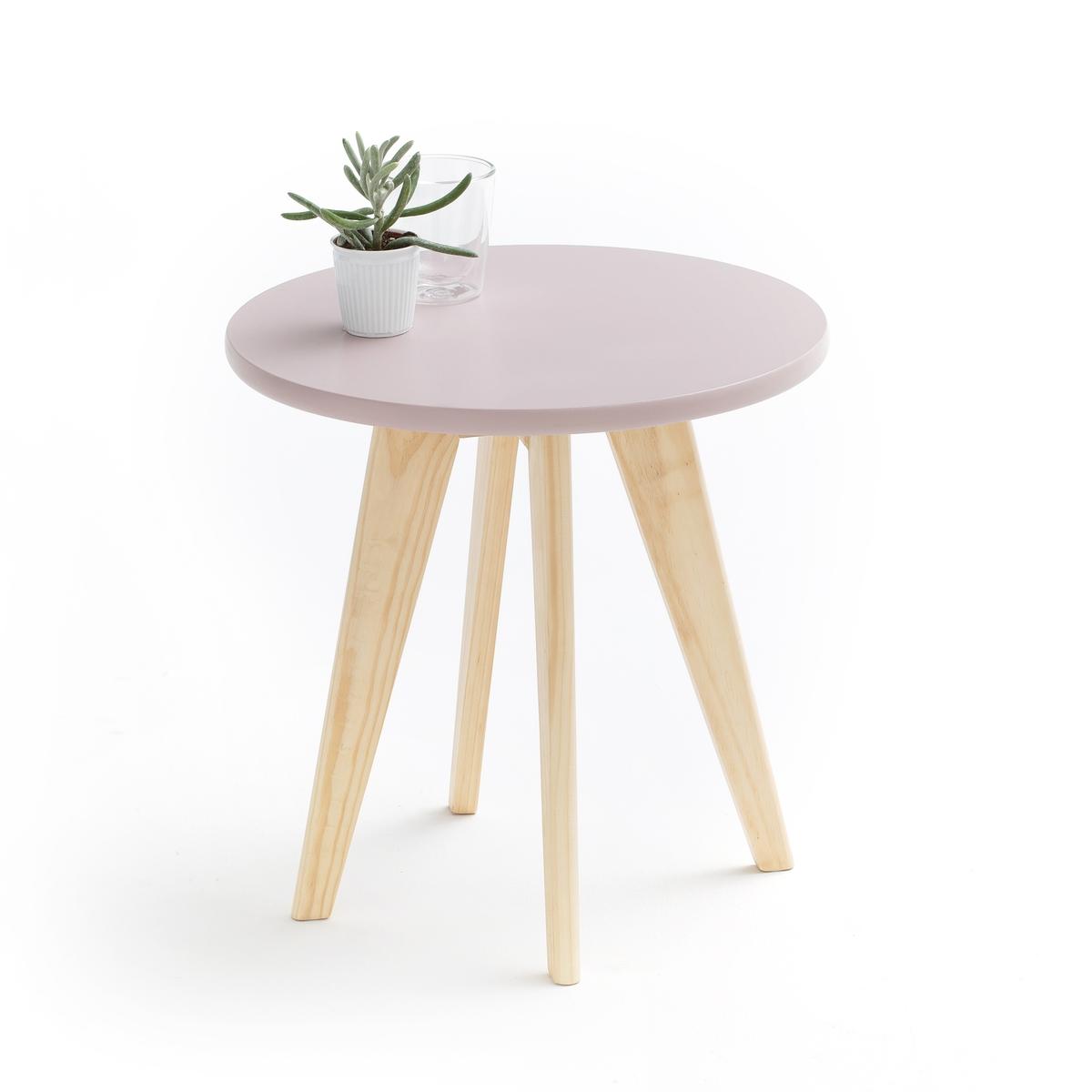 Столик La Redoute Круглый Jimi единый размер розовый стол la redoute письменный из массива сосны на треноге jimi единый размер белый