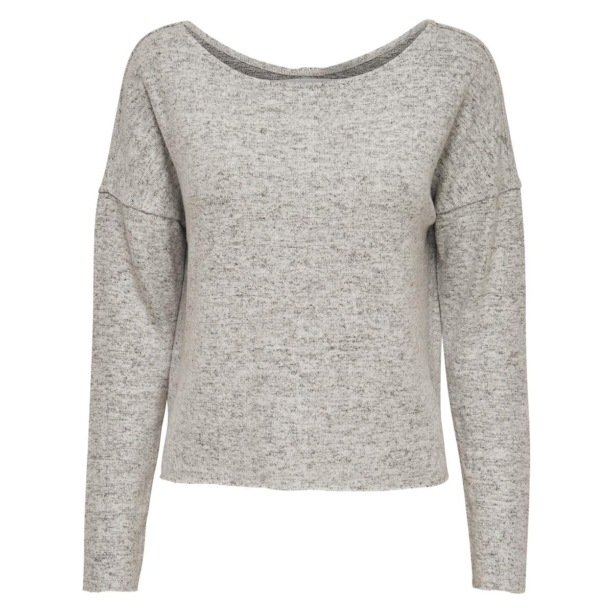 Пуловер с застежкой на пуговицы сзадиМатериал : 81% вискозы, 5% эластана, 14% полиэстера  Длина рукава : длинные рукава  Форма воротника : круглый вырез  Покрой пуловера : стандартный  Рисунок : однотонная модель<br><br>Цвет: светло-серый меланж<br>Размер: L