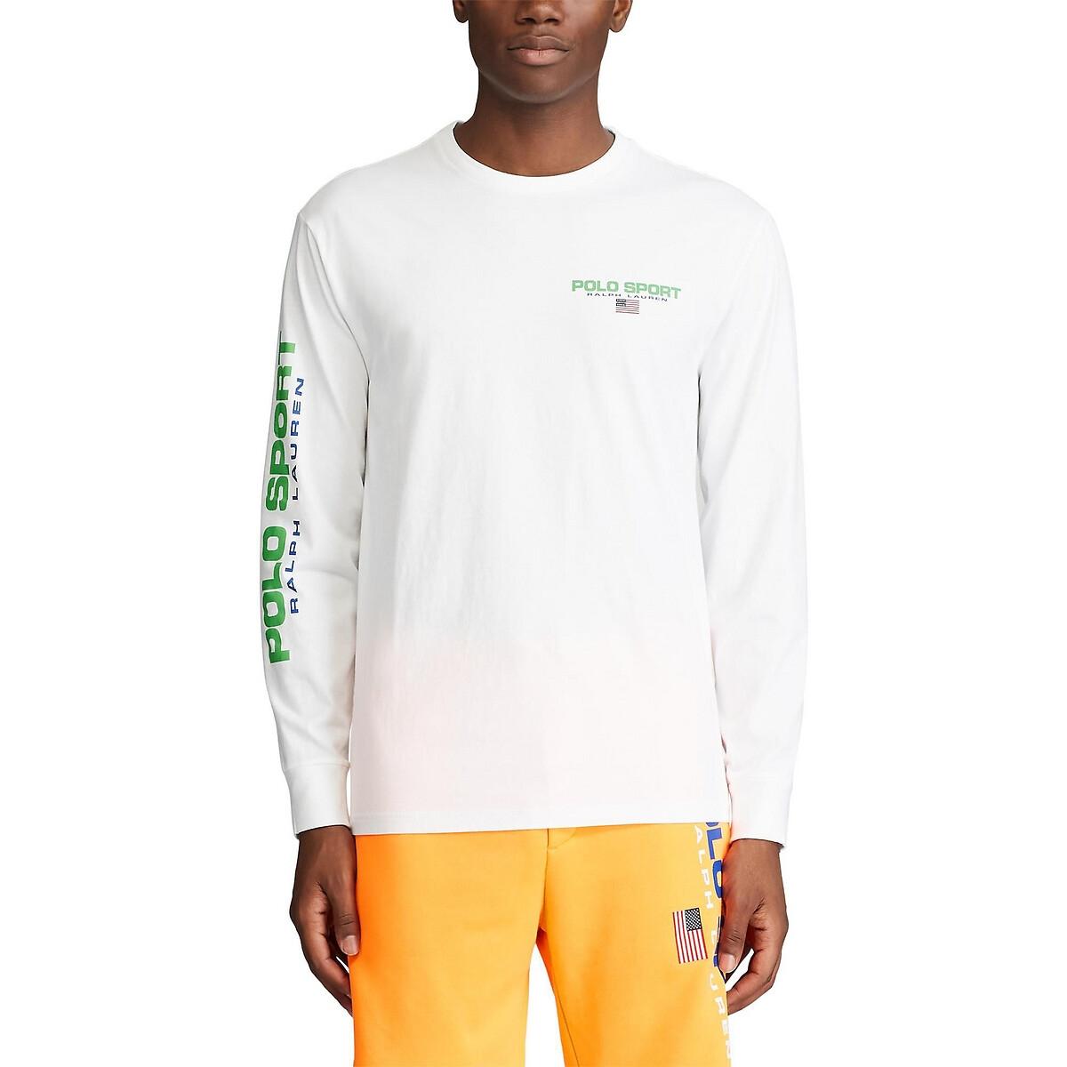 Футболка La Redoute С круглым вырезом и длинными рукавами Polo Bear L белый футболка la redoute с вырезом лодочка и длинными рукавами l зеленый