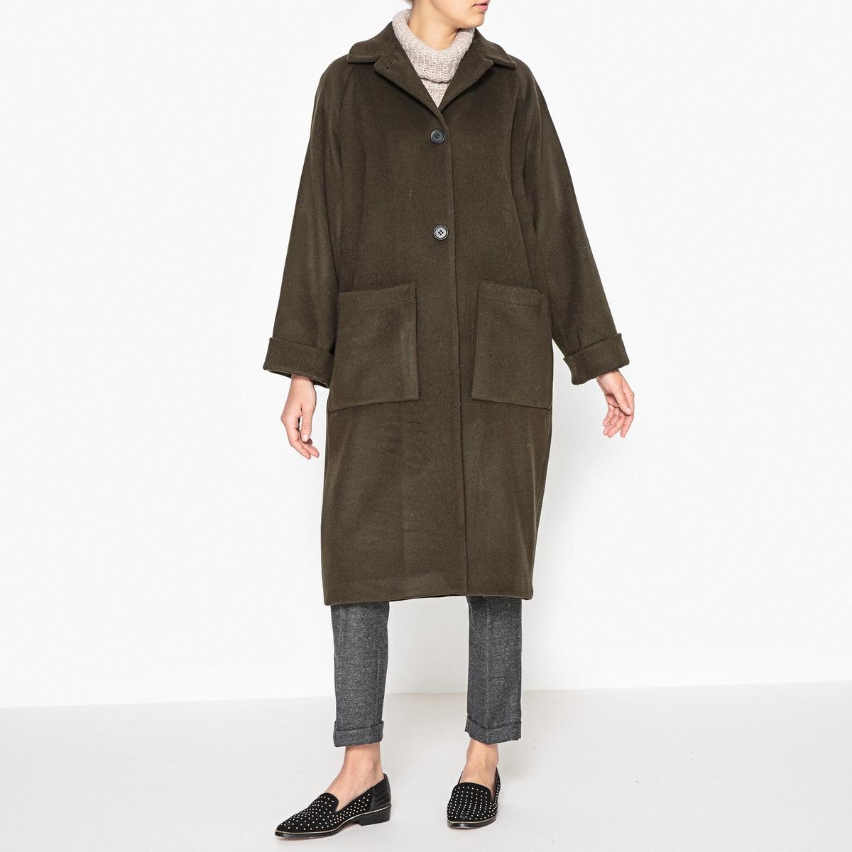 Пальто длинное ASTORОписание:Пальто MARGAUX LONNBERG - модель ASTOR c крупными карманами, которые подчеркивают свободный покрой.Детали •  Длина : удлиненная модель •  Воротник-поло, рубашечный  • Застежка на пуговицыСостав и уход •  70% шерсти, 10% кашемира, 20% полиамида •  Следуйте советам по уходу, указанным на этикетке<br><br>Цвет: хаки<br>Размер: 34 (FR) - 40 (RUS)